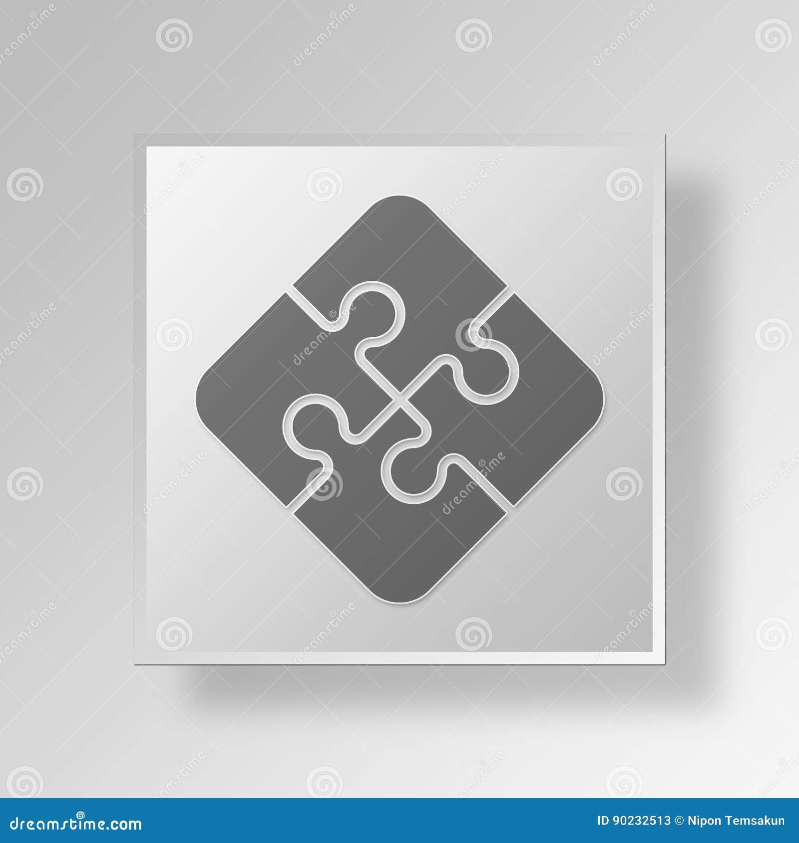 3D七巧板按钮象概念