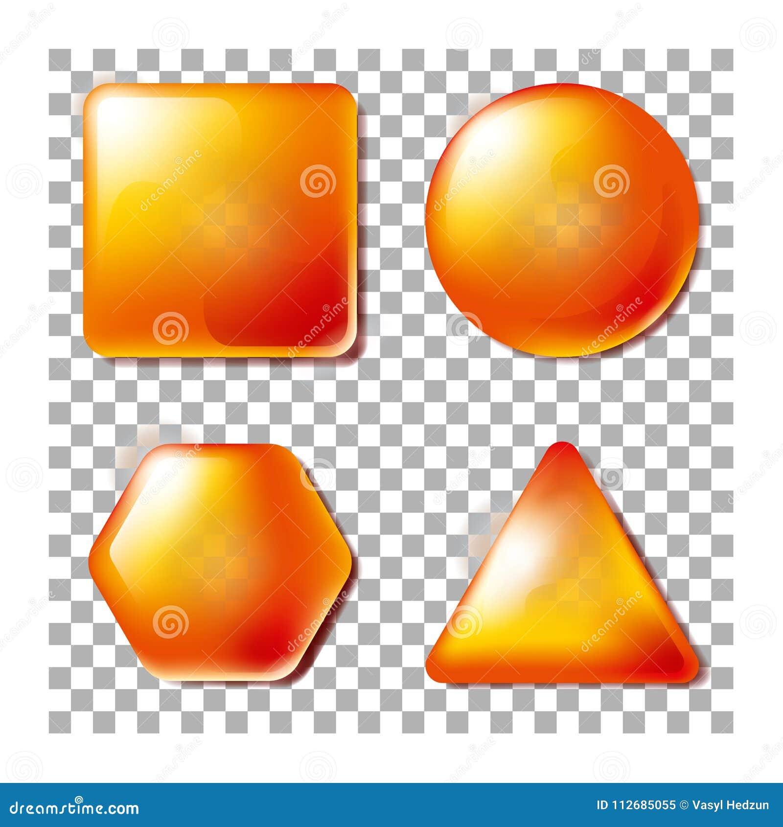 3D不透明正方形,圈子,六角形,三角 套空白和透明度