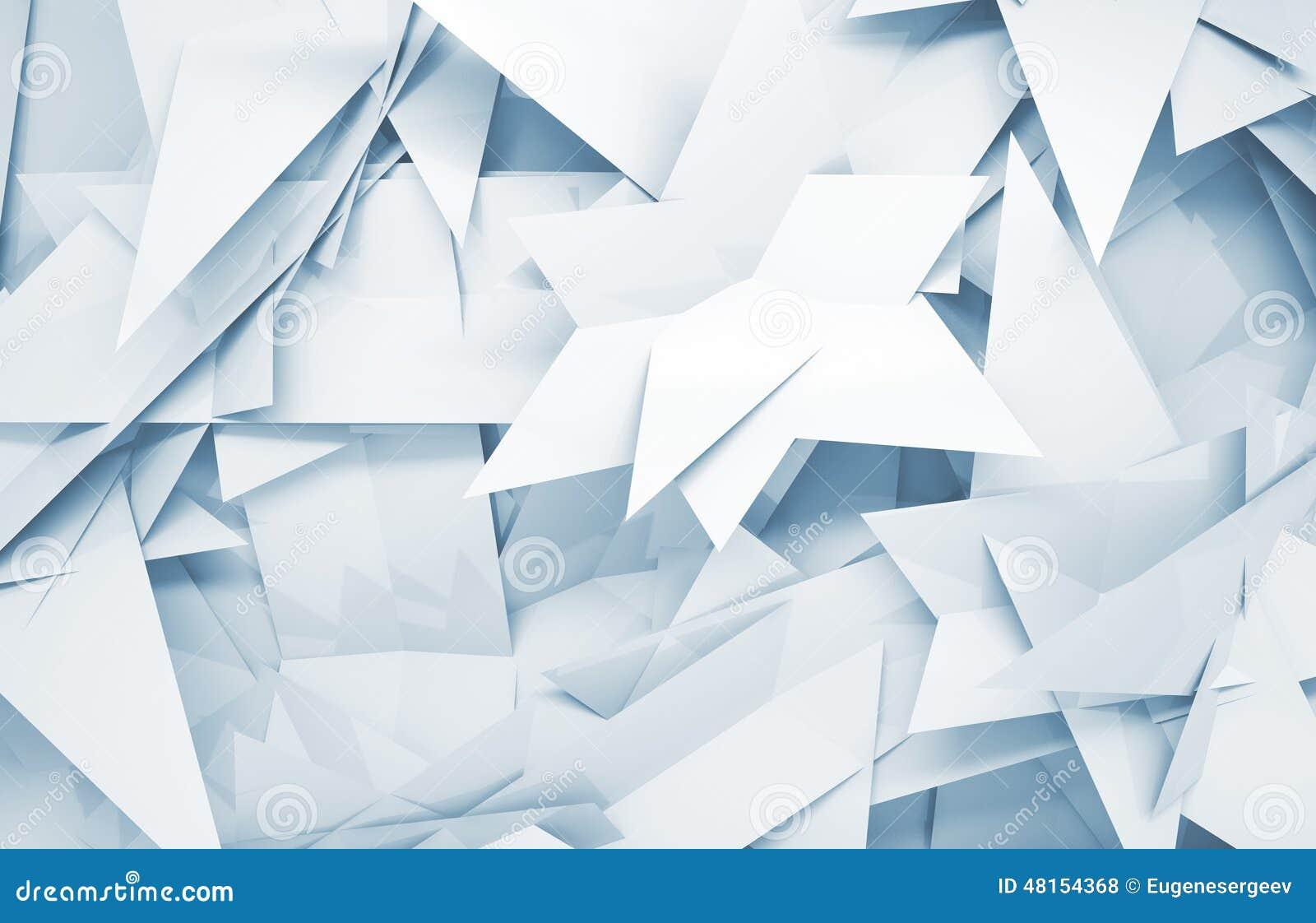 3d与混乱三角多角形样式的背景