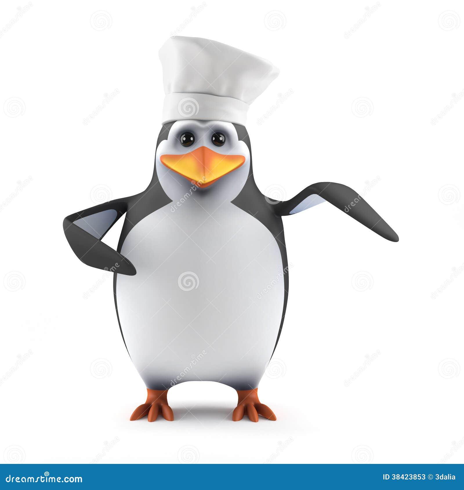 3d企鹅厨师