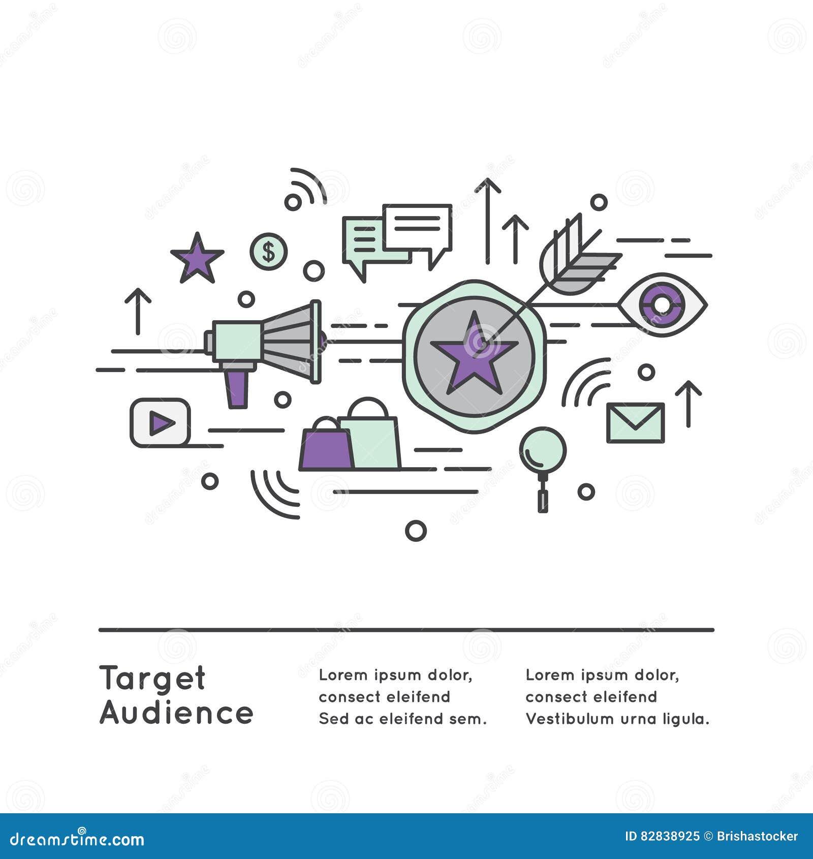 3d听众背景概念查出空白被回报的目标