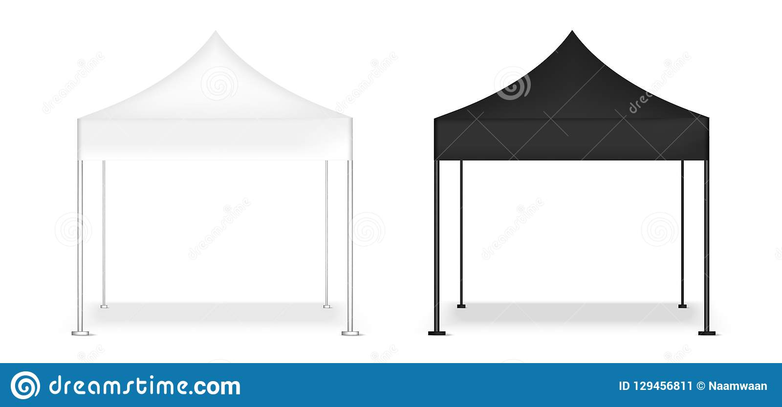 3D嘲笑现实帐篷显示POP摊待售营销促进陈列背景例证