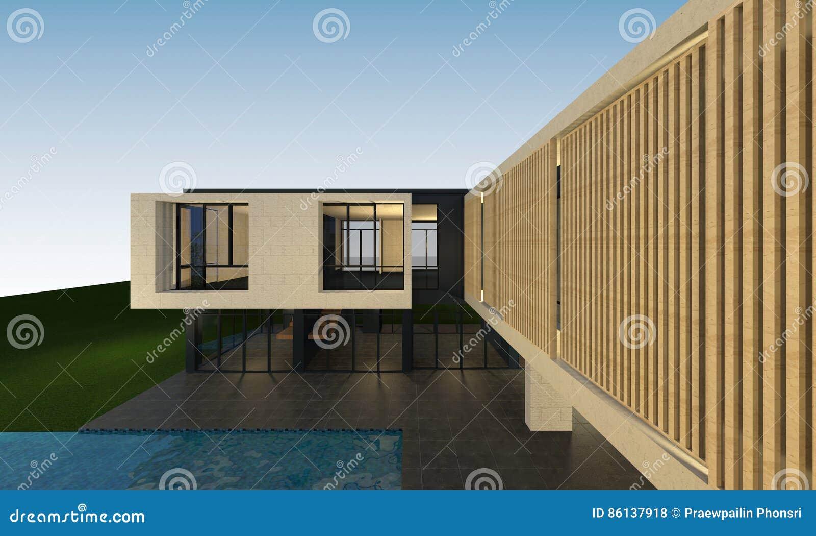 3D回报与裁减路线的热带房子空间