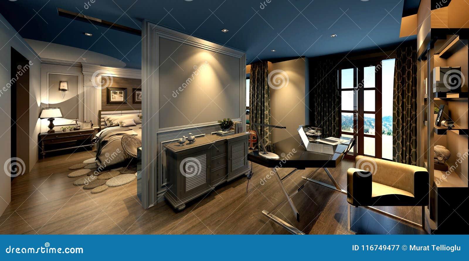 3d回报居住和卧室