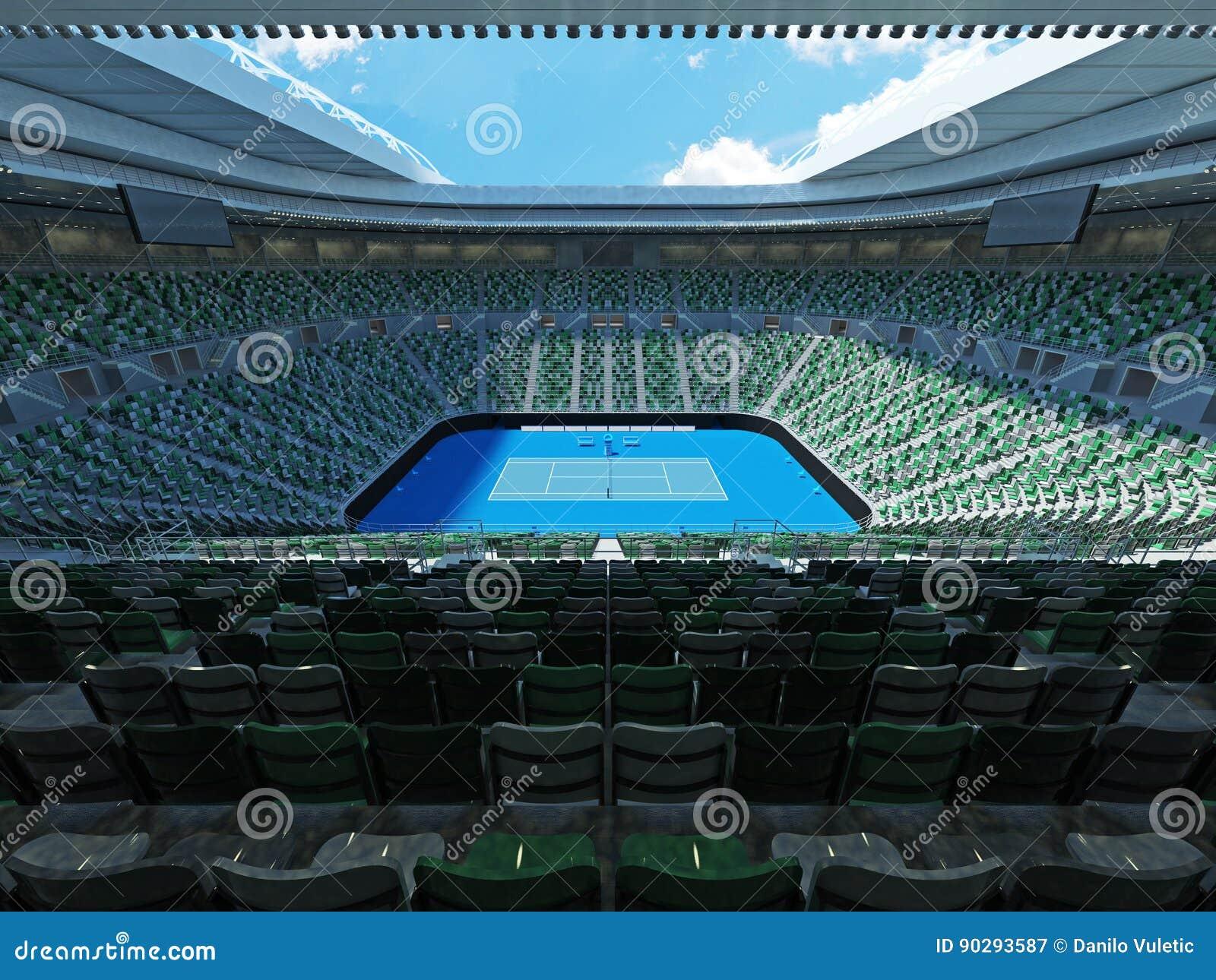 3D回报美丽的现代网球全垒打极为相象的体育场