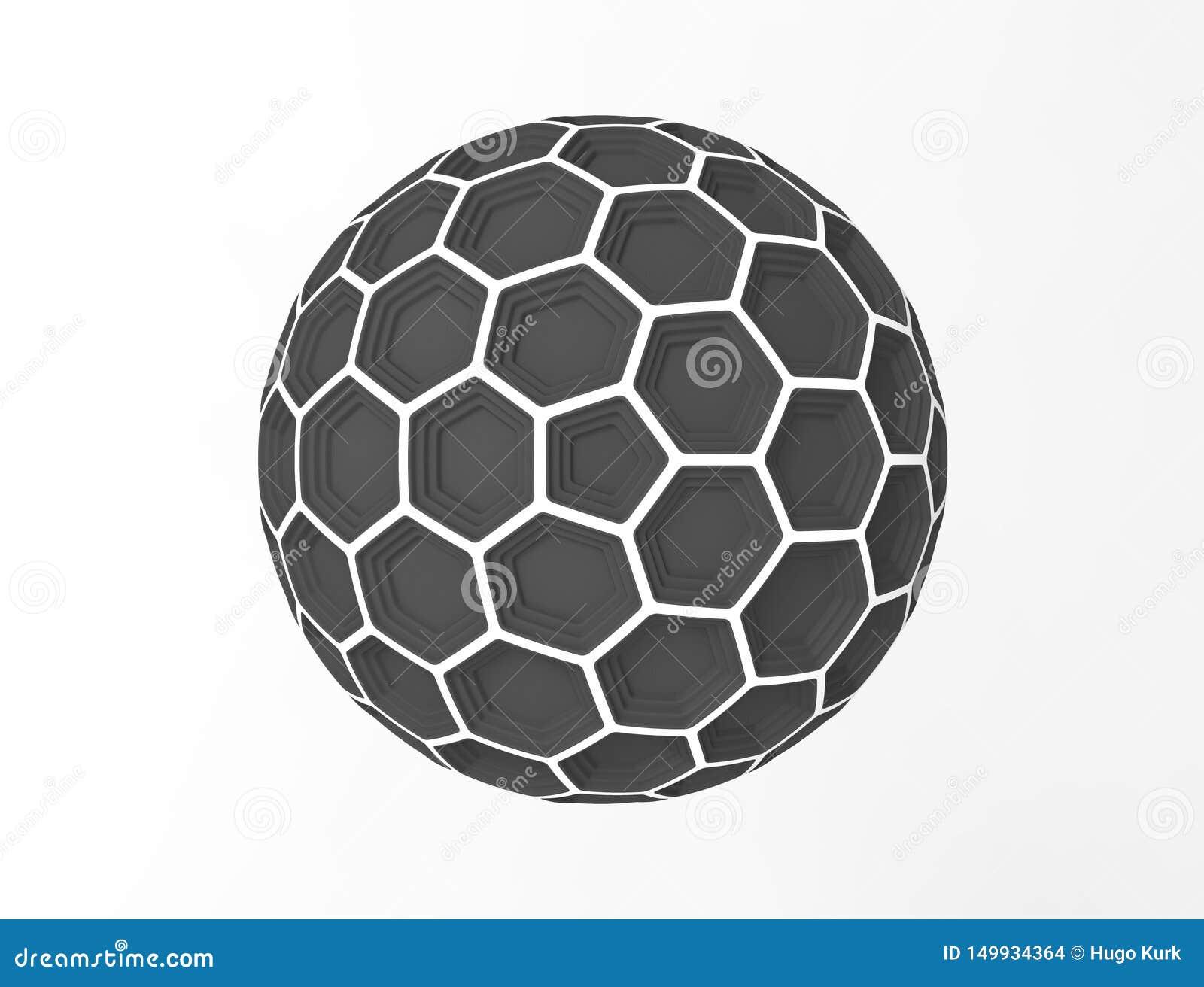 3d在白色演播室背景中隔绝的蜂窝球形圆顶的翻译
