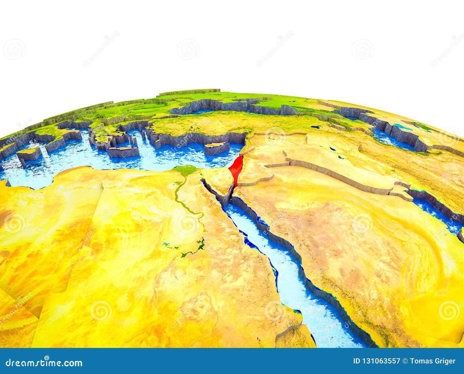 3D地球上的以色列