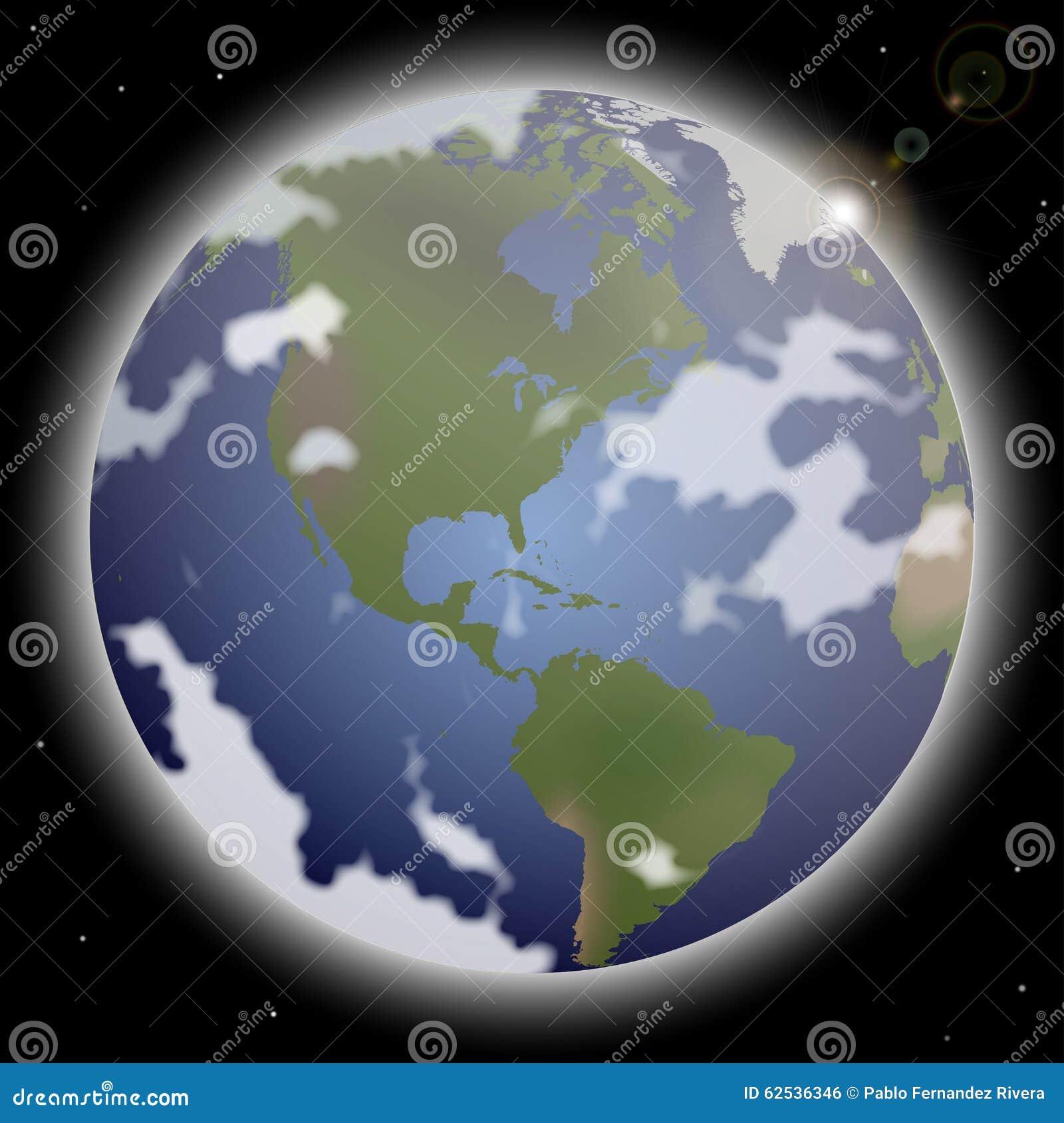 3d地球展望期线路回报了空间