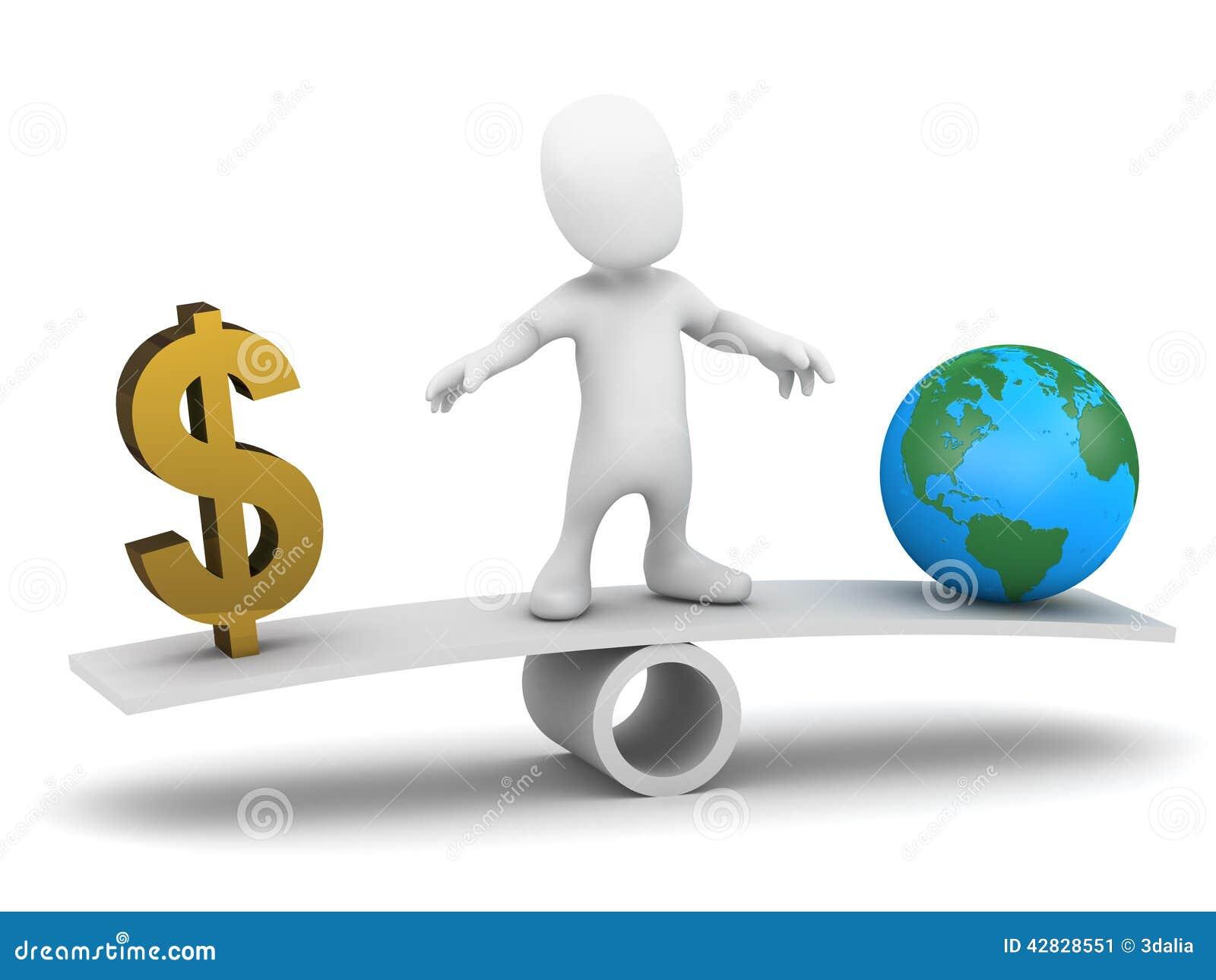 3d小人平衡金钱避免地球