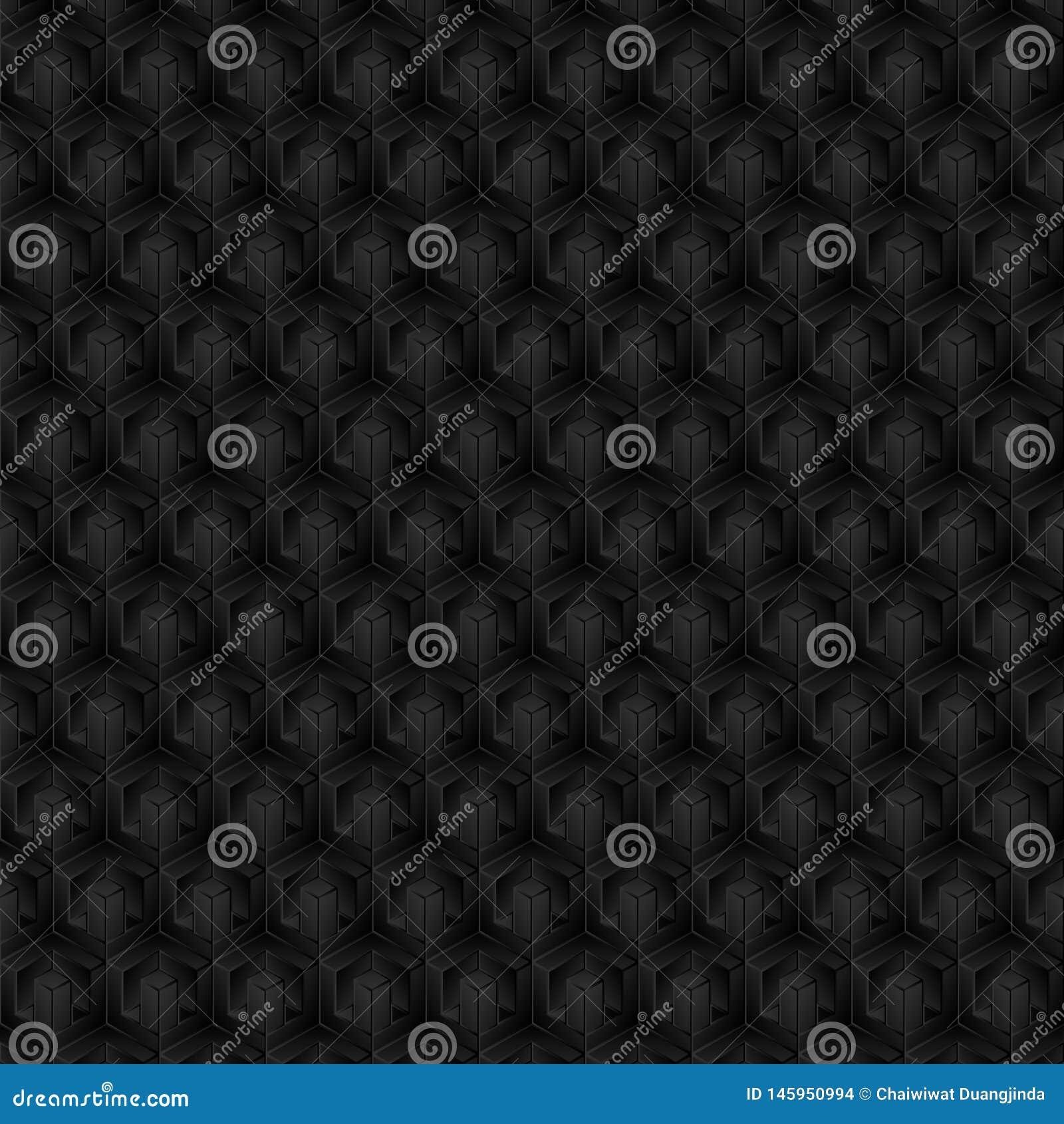 3D形状,样式,阴影颜色,黑,灰色作为背景,抽象