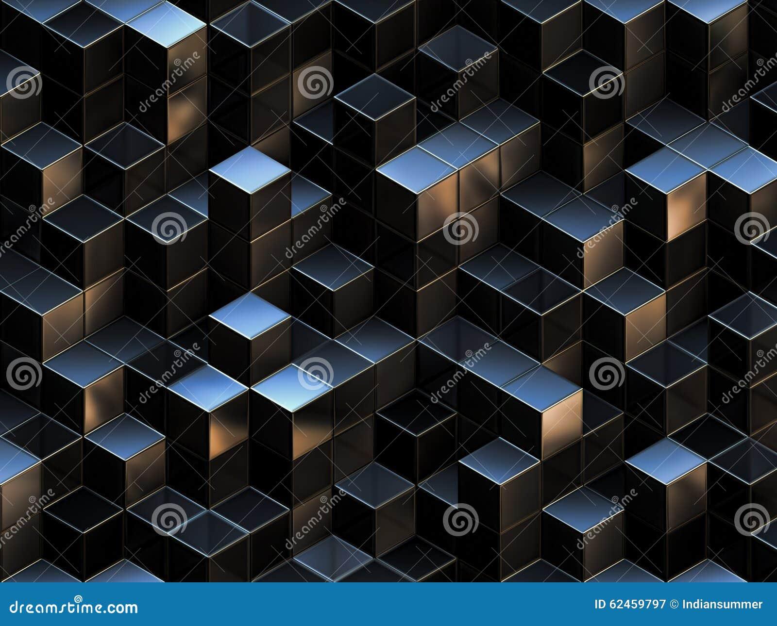 3d抽象背景多维数据集