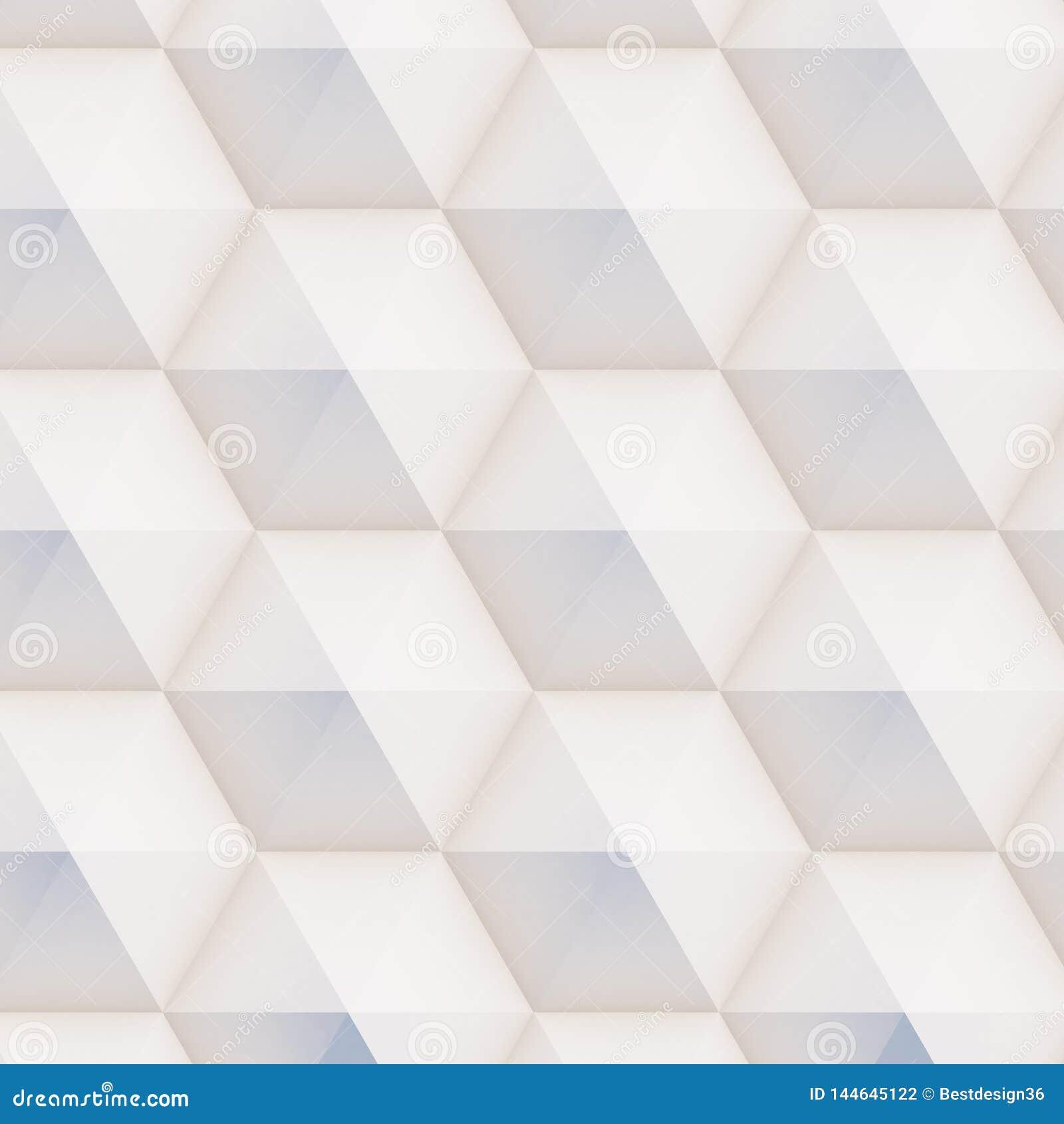3D样式由白色和米黄几何形状做成