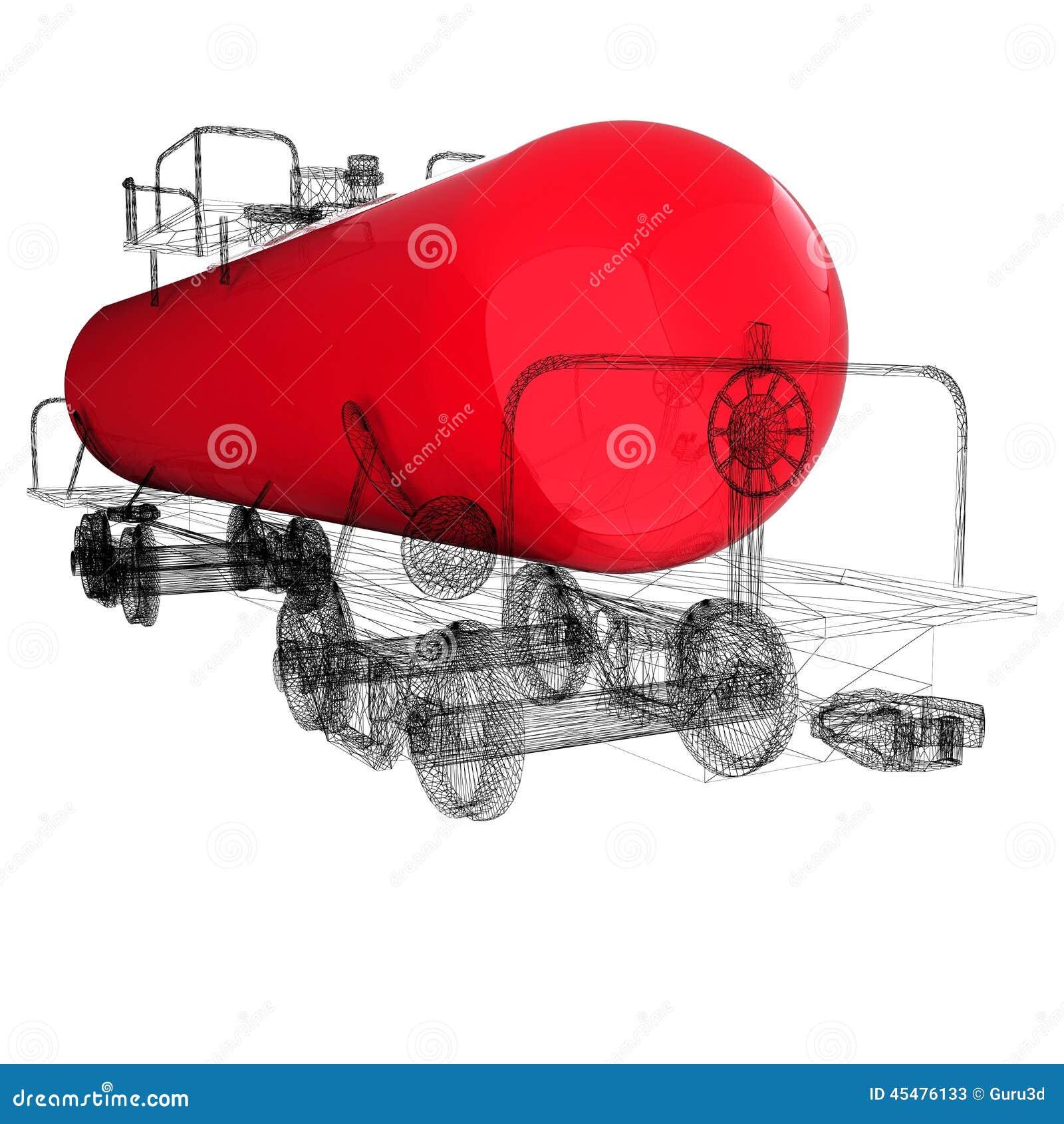 3D模型储水池汽车