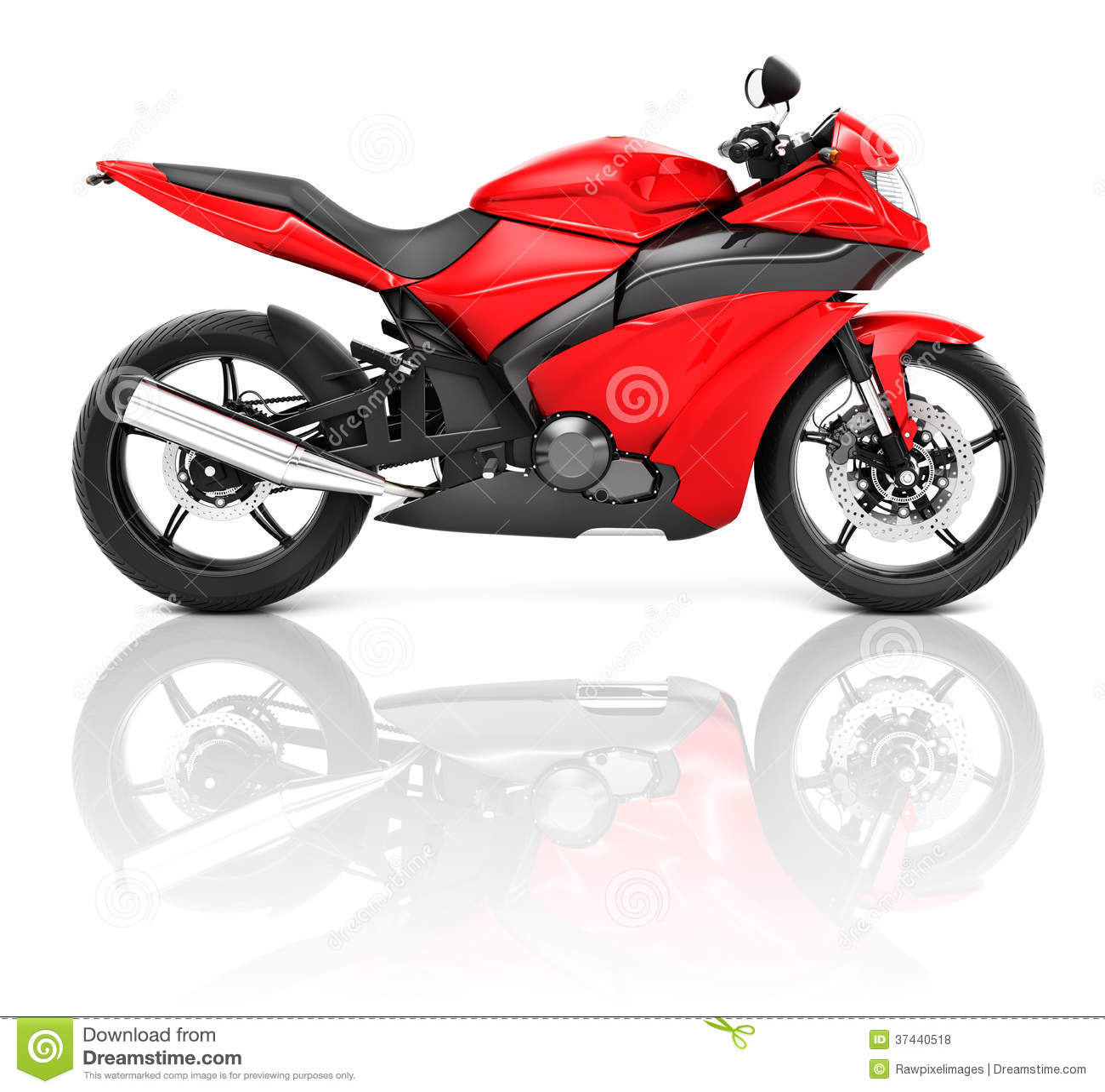 3D炫耀摩托车