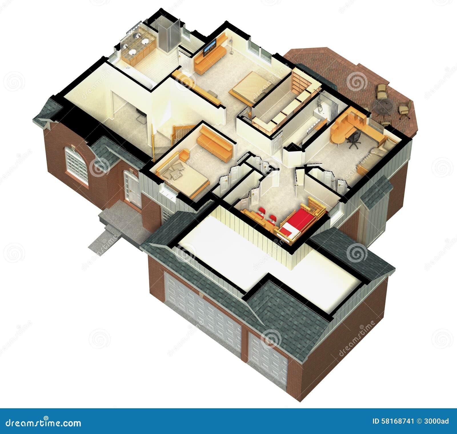 3D用装备的房子翻译