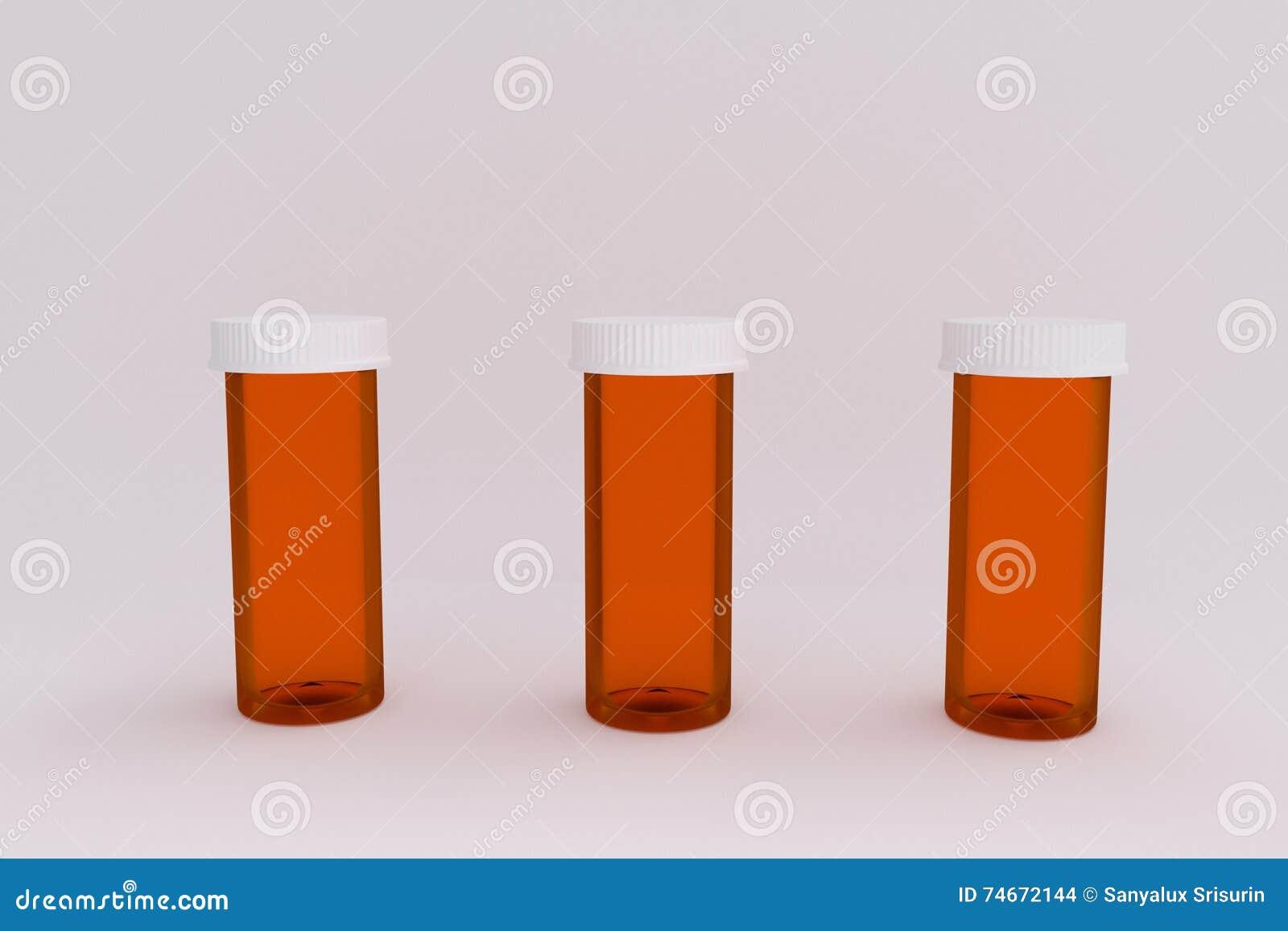 3D空的医疗药瓶翻译