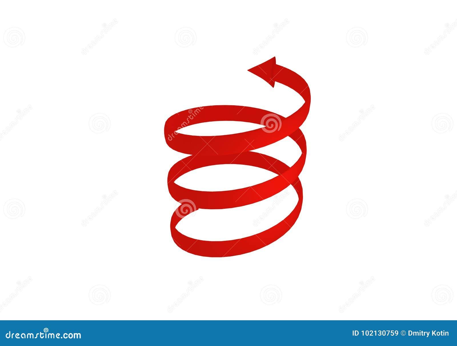 3d红色螺旋箭头 3d翻译