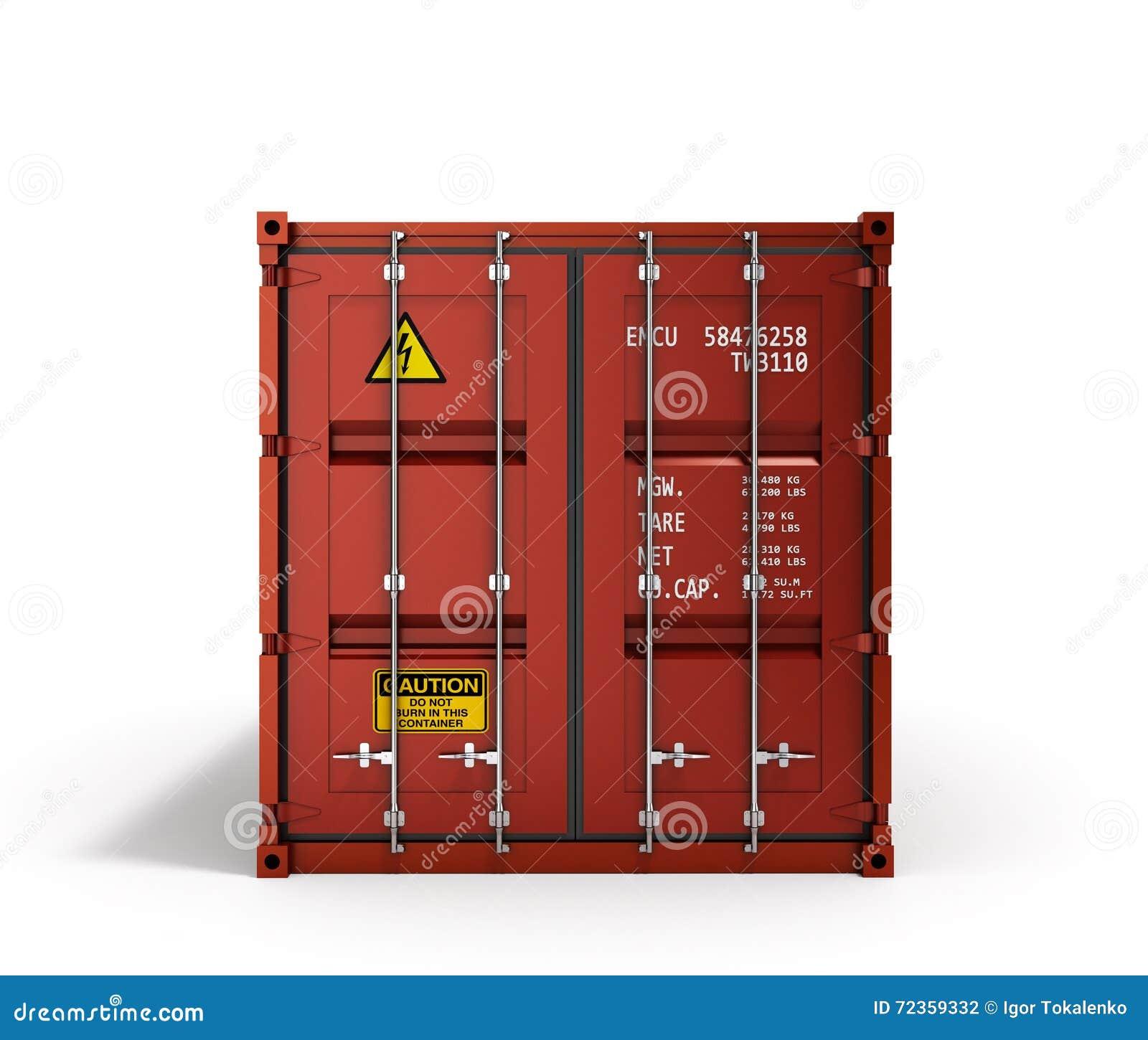 3d红色运输货柜的翻译