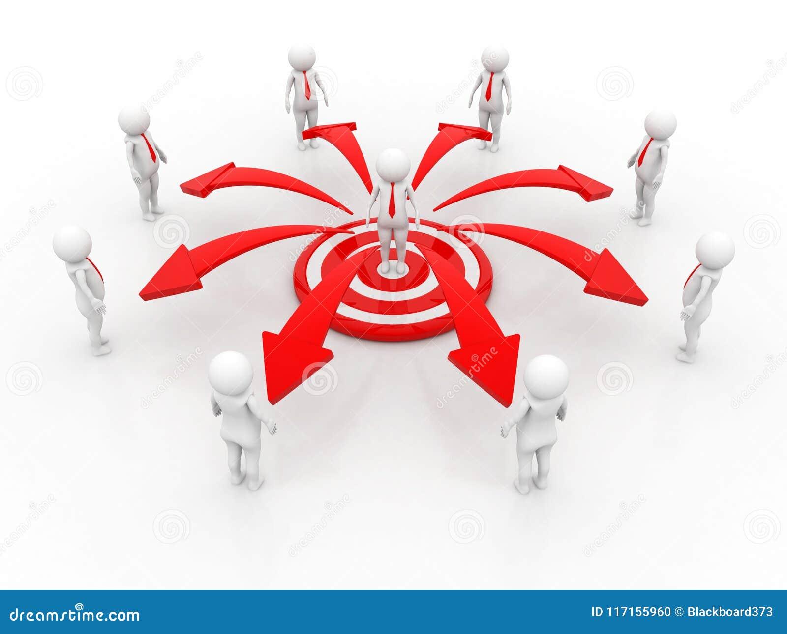 3d翻译企业网络概念,领导,事务领导