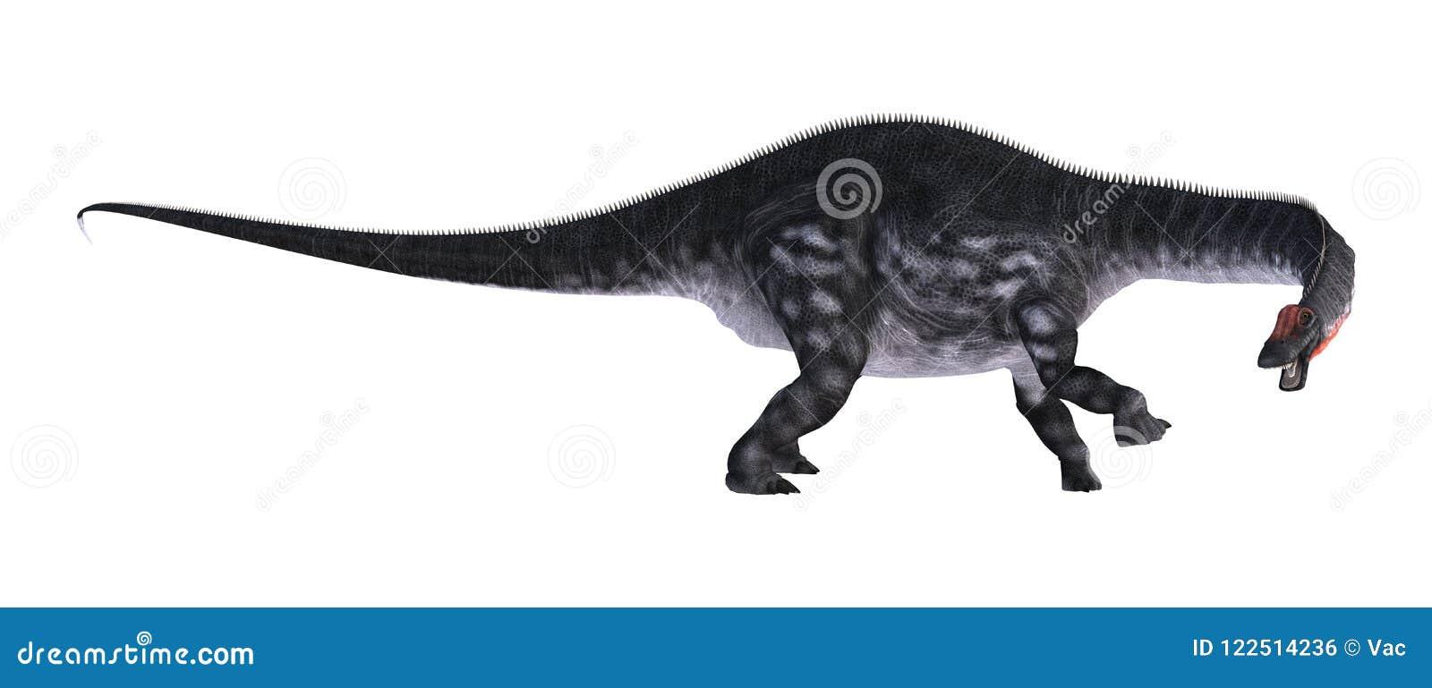 3D翻译在白色的恐龙雷龙属