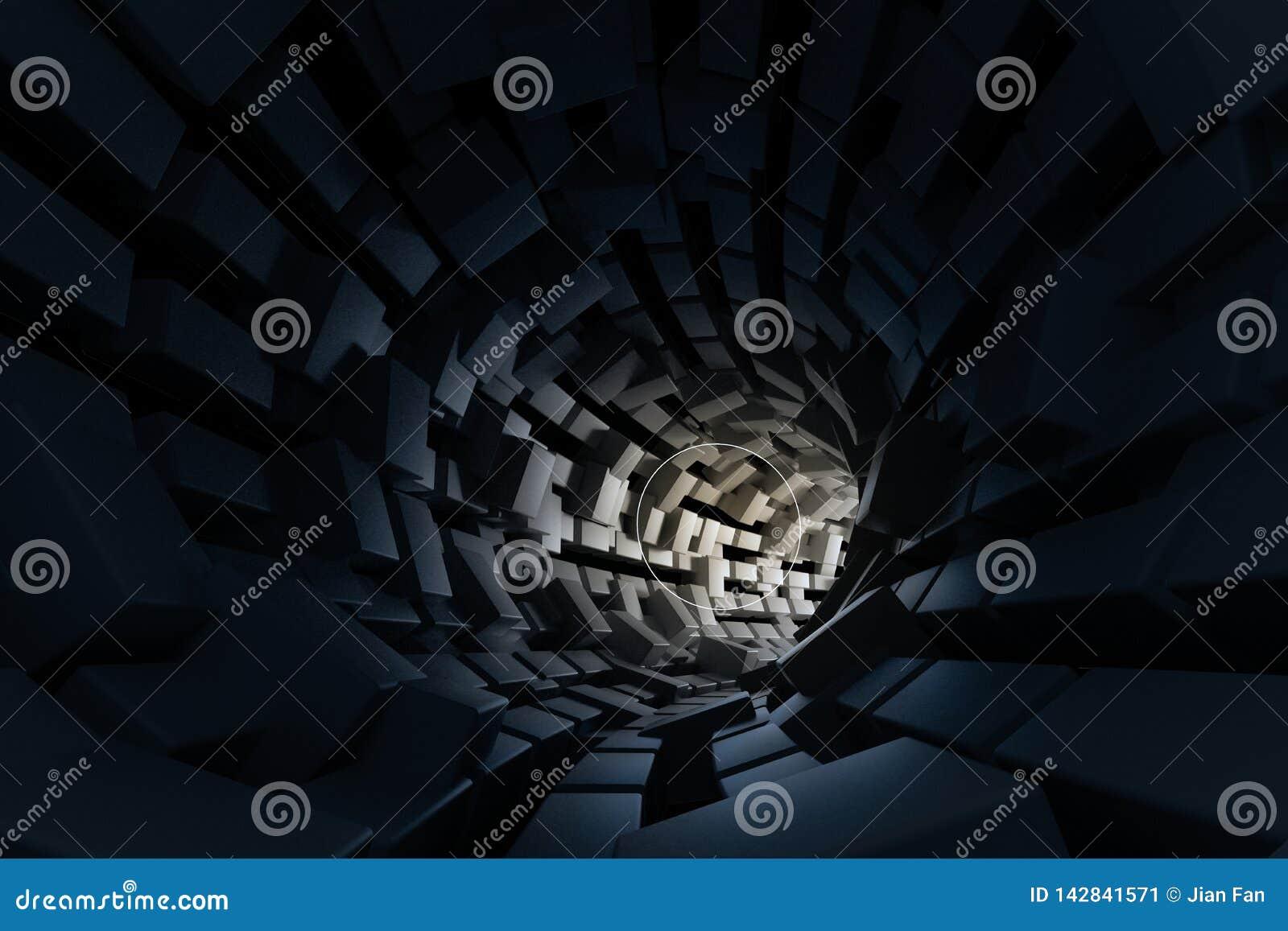 3d翻译,黑暗的科学小说隧道,黑暗的背景