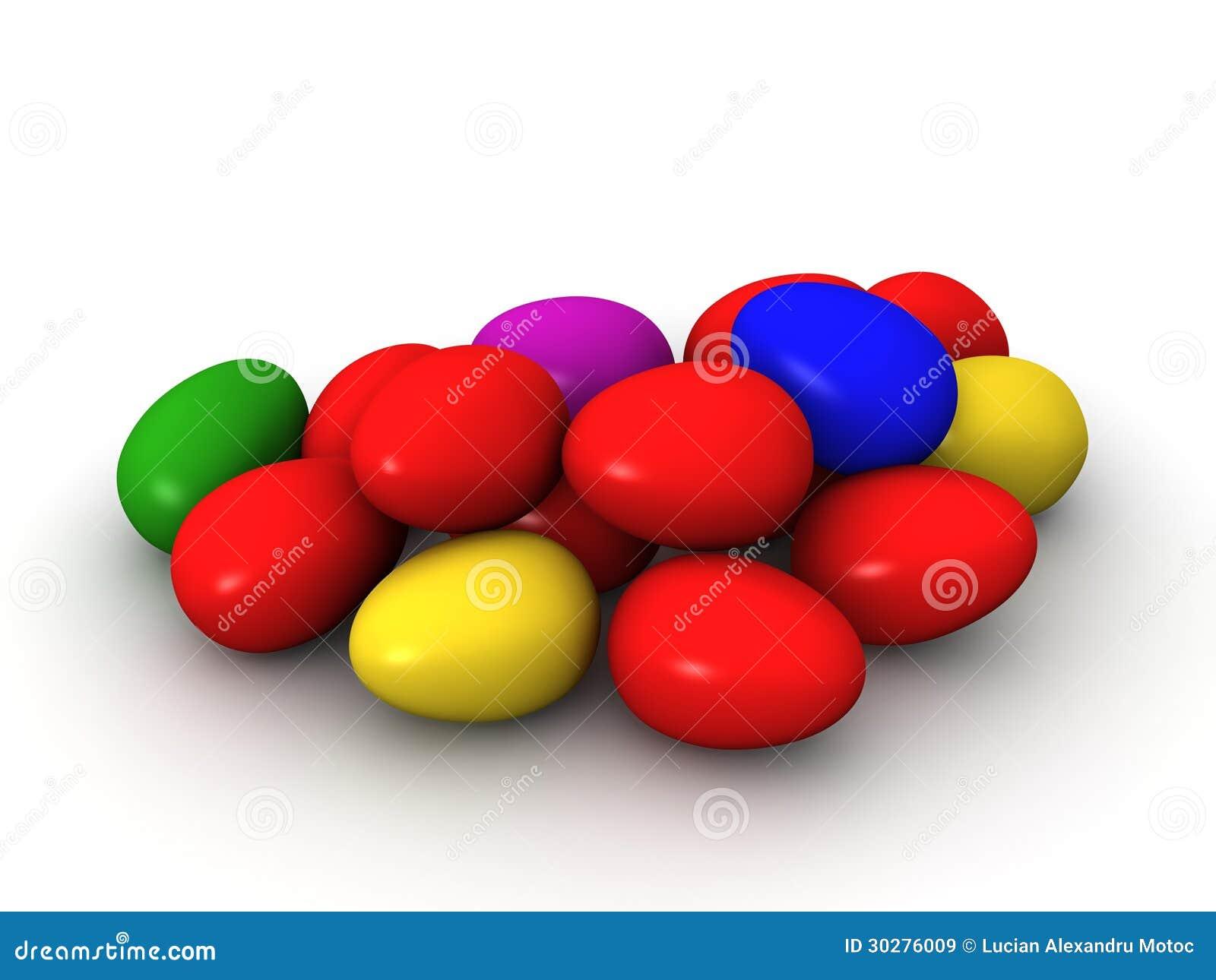 3D复活节彩蛋倍数颜色