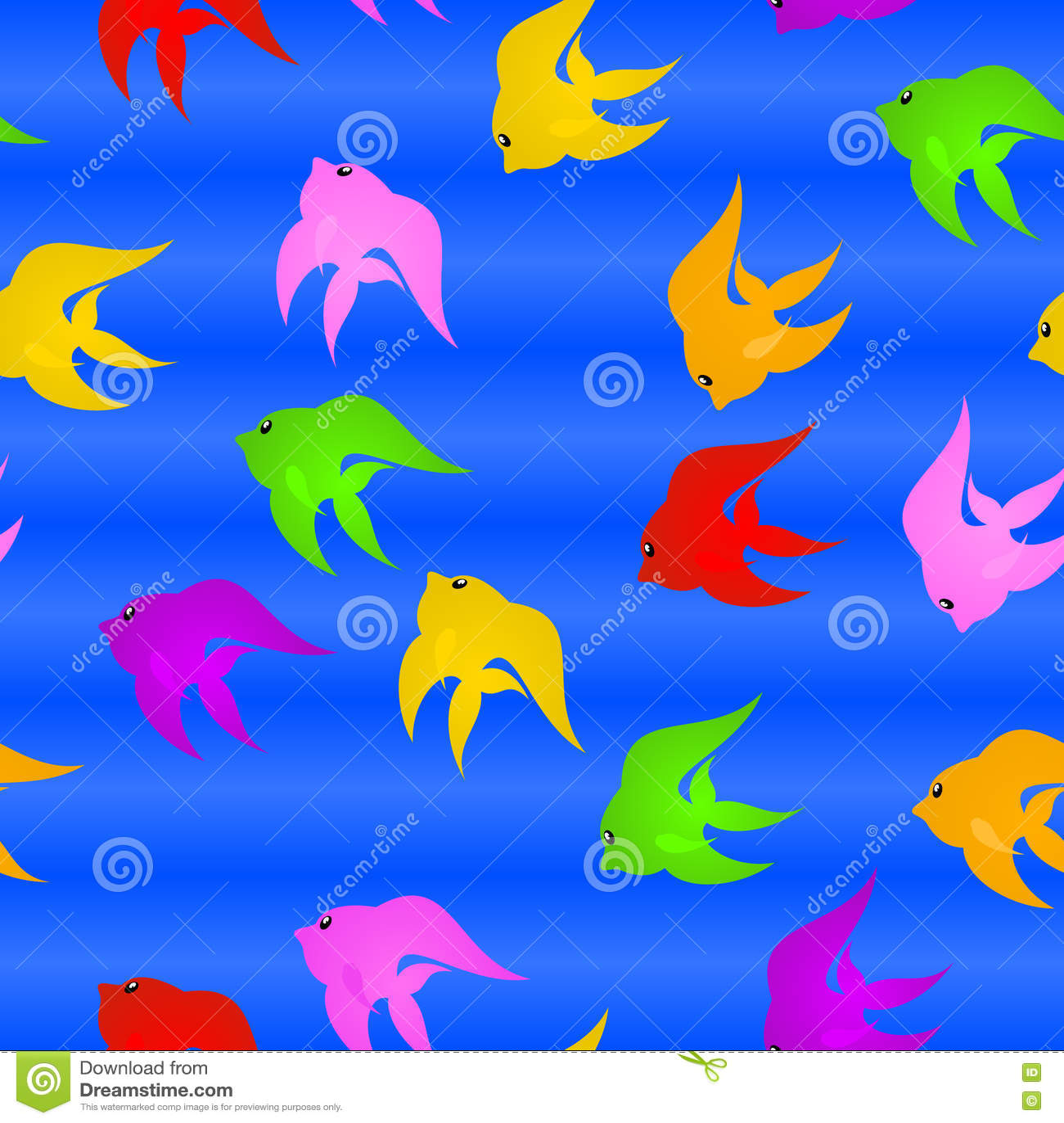 3d艺术动画片概念鱼回报