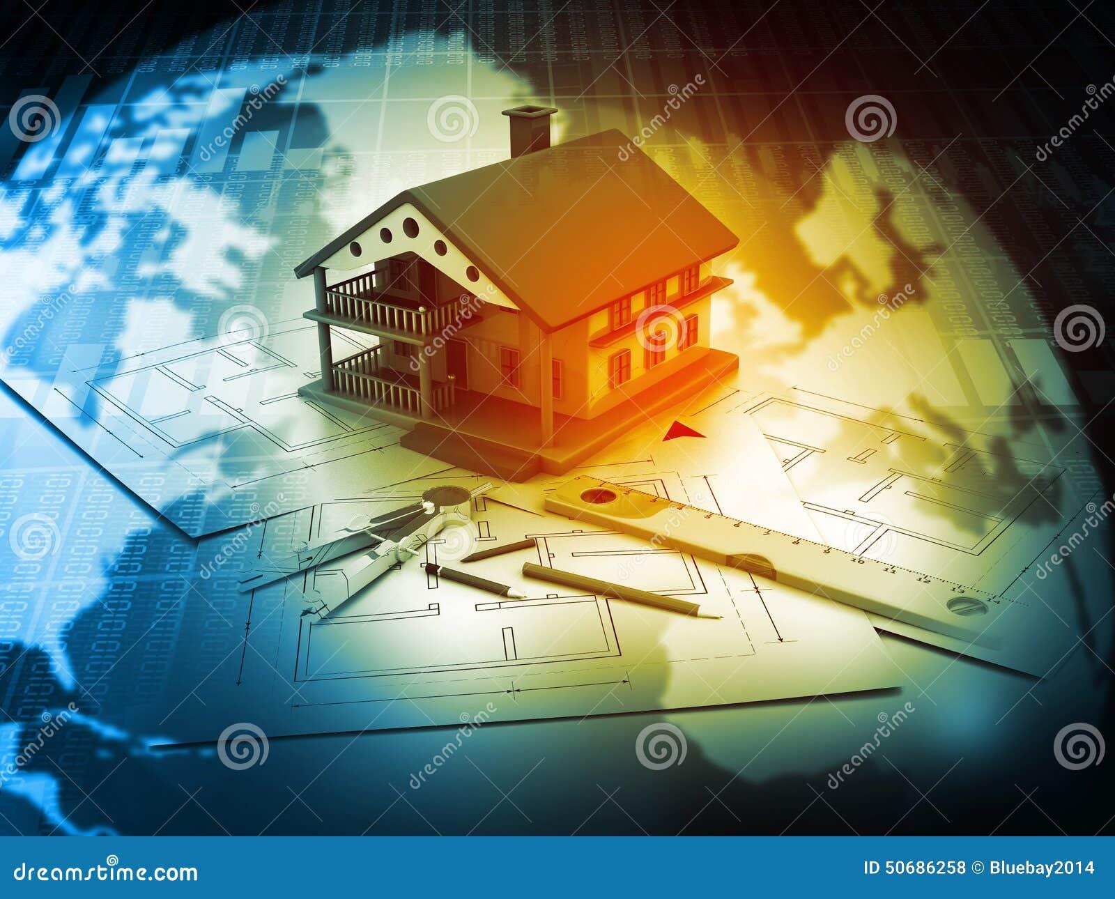 Download 3d计划图纸的房子 库存例证. 插画 包括有 例证, 全球, 设计, 抽象, 结构, 背包, 想法, 图画 - 50686258