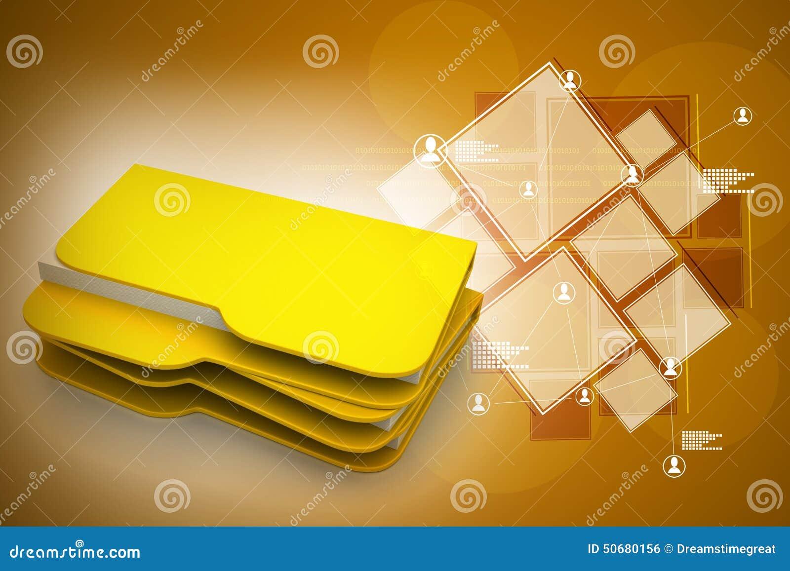 Download 3d计算机文件 库存例证. 插画 包括有 文件夹, 黄色, 计算机, 颜色, 服务, 例证, 尺寸, 技术 - 50680156