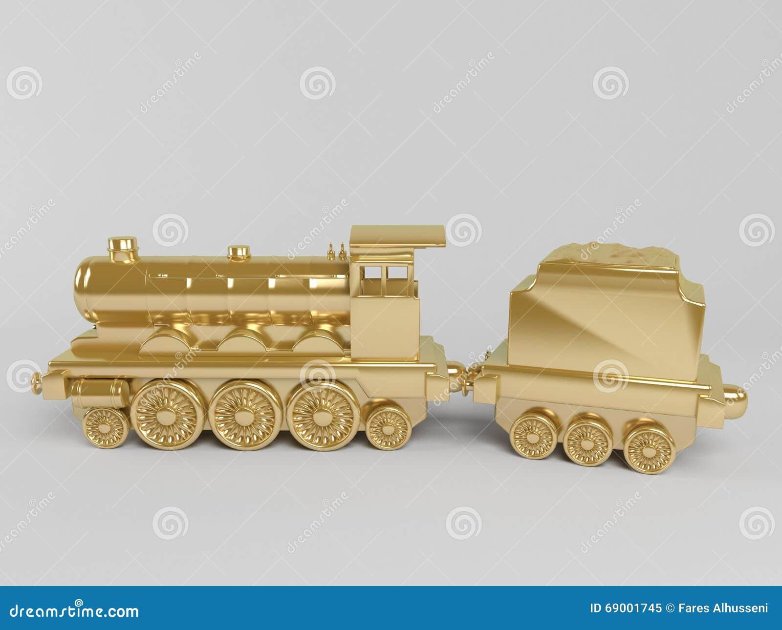 3d金黄火车