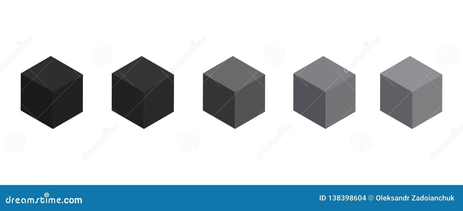 3d黑色立方体 黑匣子 您的图形设计的传染媒介