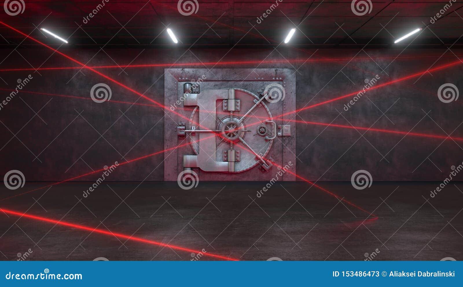 3d übertragen die Bank wird geschützt durch ein Laser-System