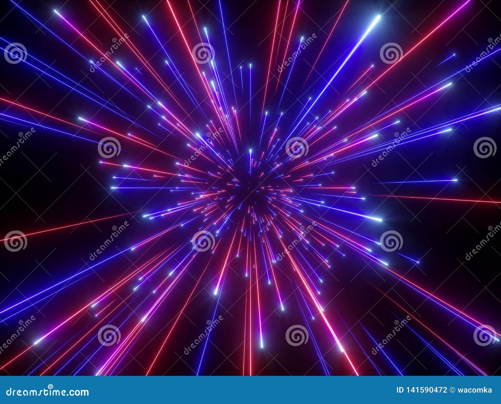 3d übertragen, Urknall, Galaxie, der abstrakte kosmische Hintergrund, himmlisch, Schönheit des Universums, Lichtgeschwindigkeit,