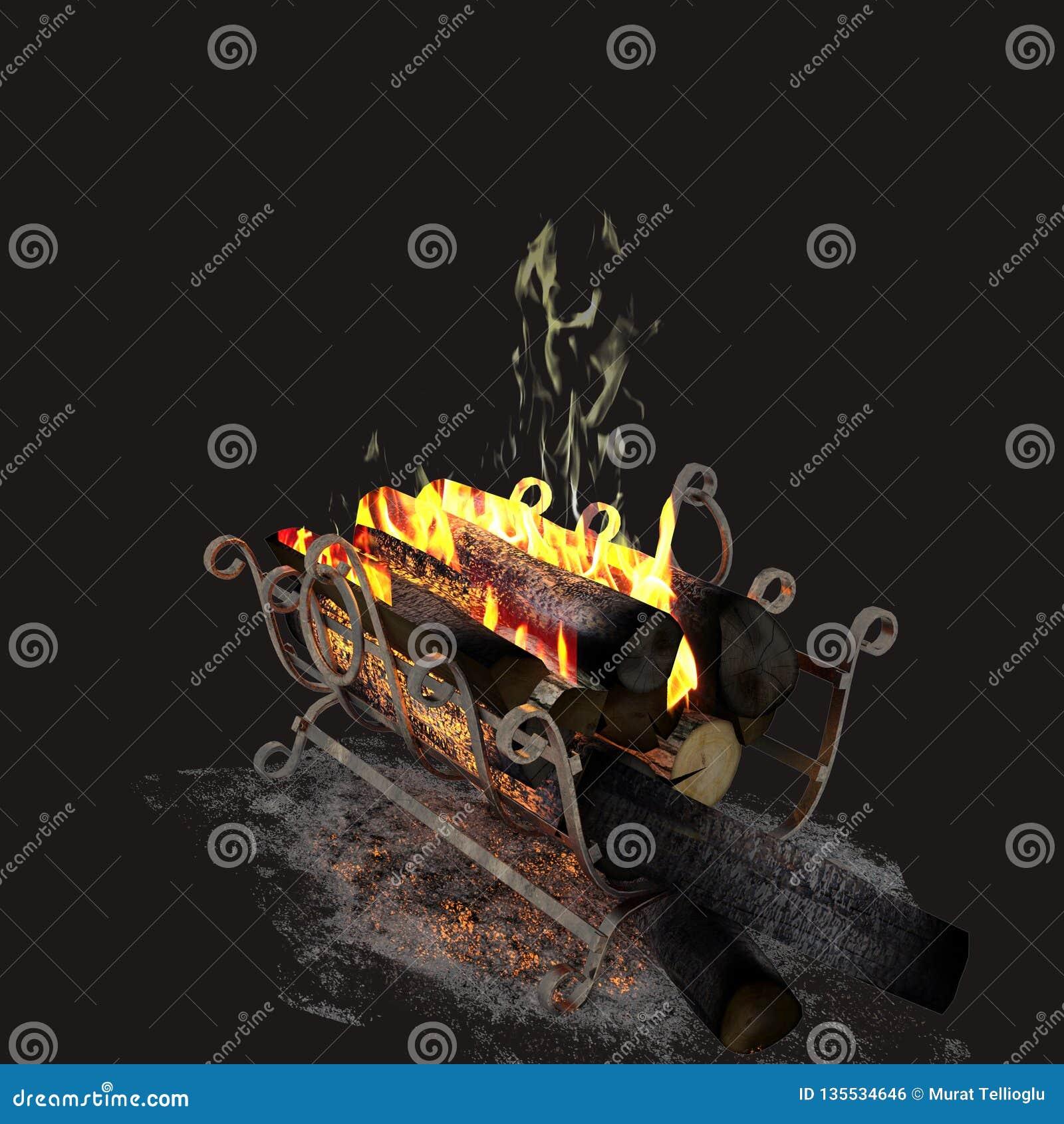3d übertragen vom Feuerholz