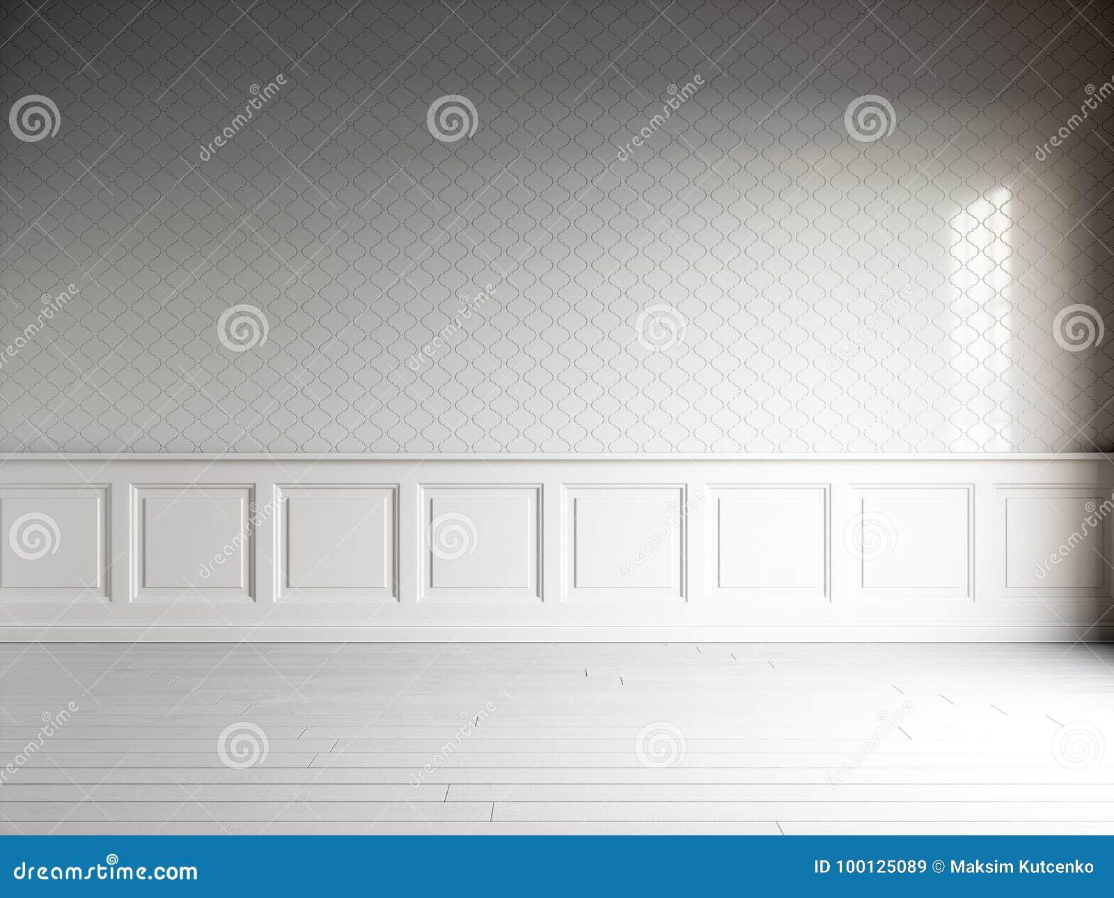 3d Fußboden Folie Kaufen ~ D übertragen vom weißen innenraum mit klassischen platten