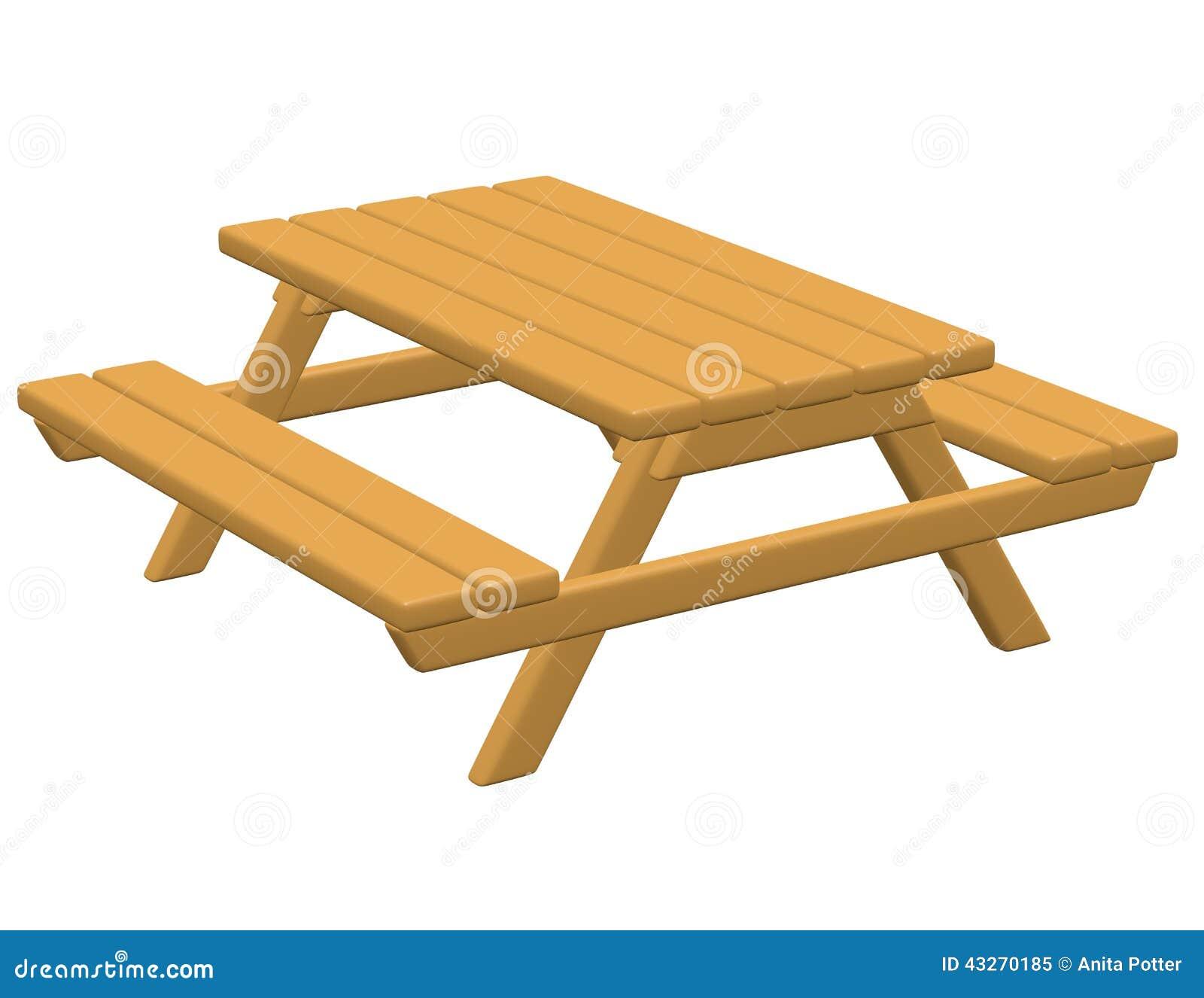 3d übertragen von einem Picknicktisch