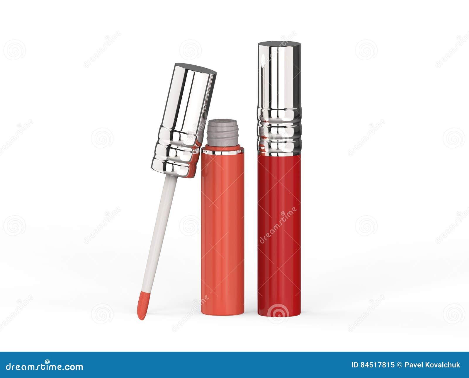 3D лоск губы иллюстрации 2 красный розовый