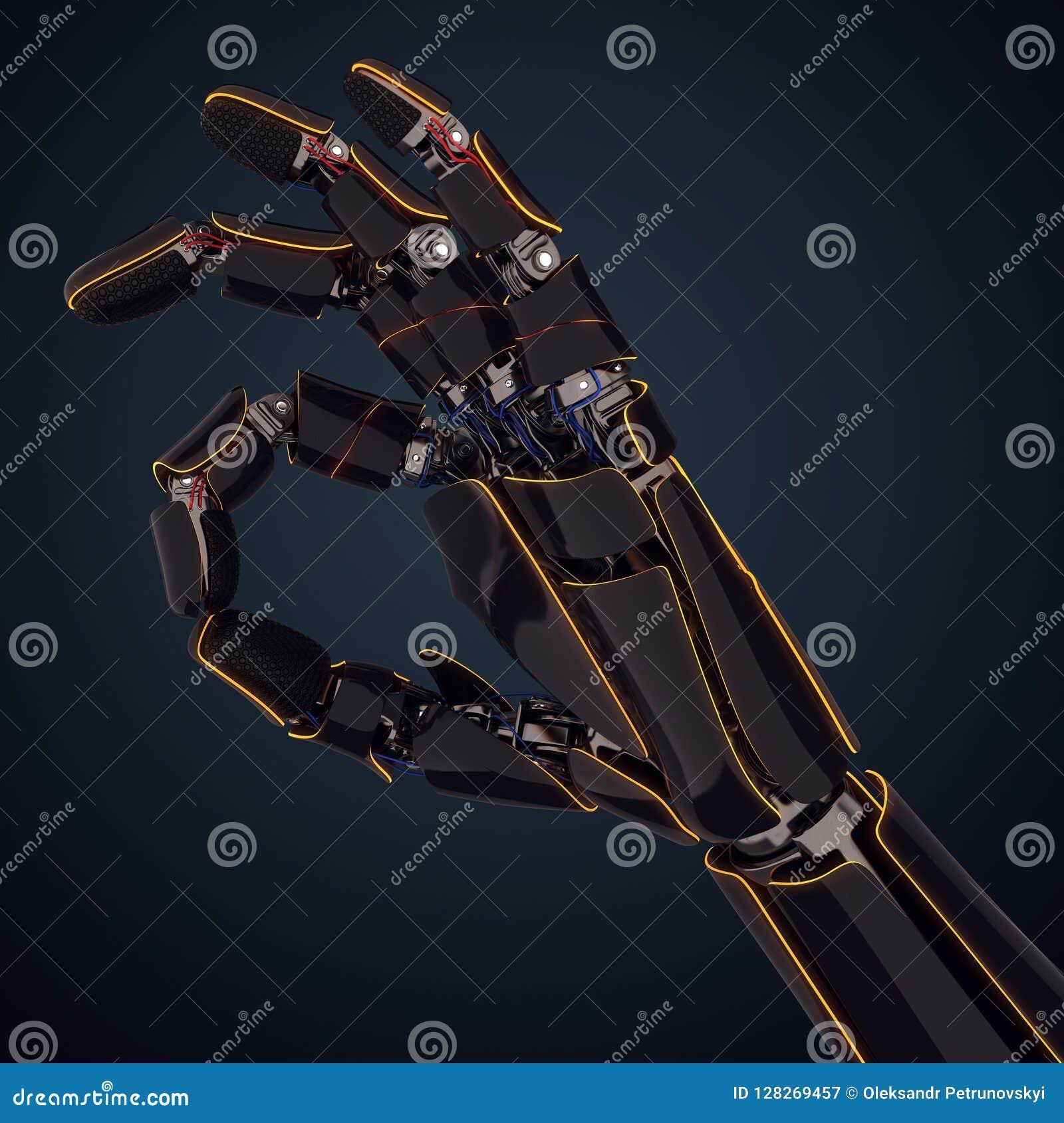 3D представляя робототехническую руку