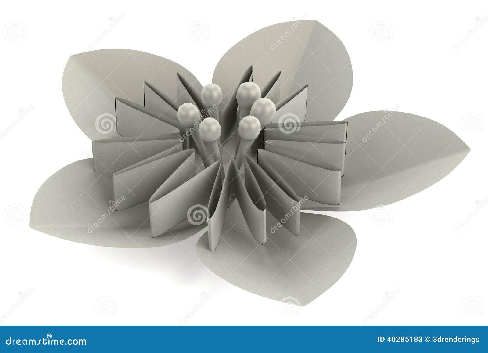 3d представляют завода origami