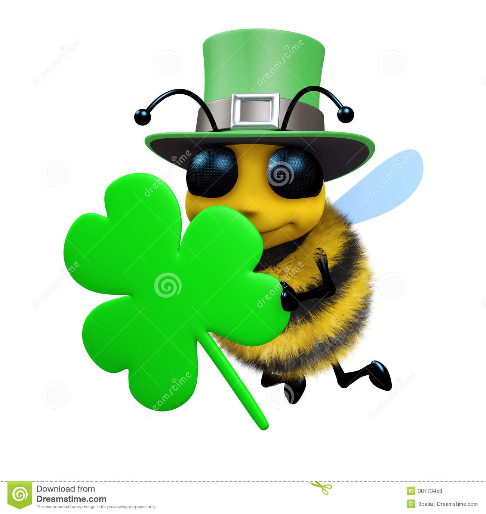 3d пчела дня St Patricks