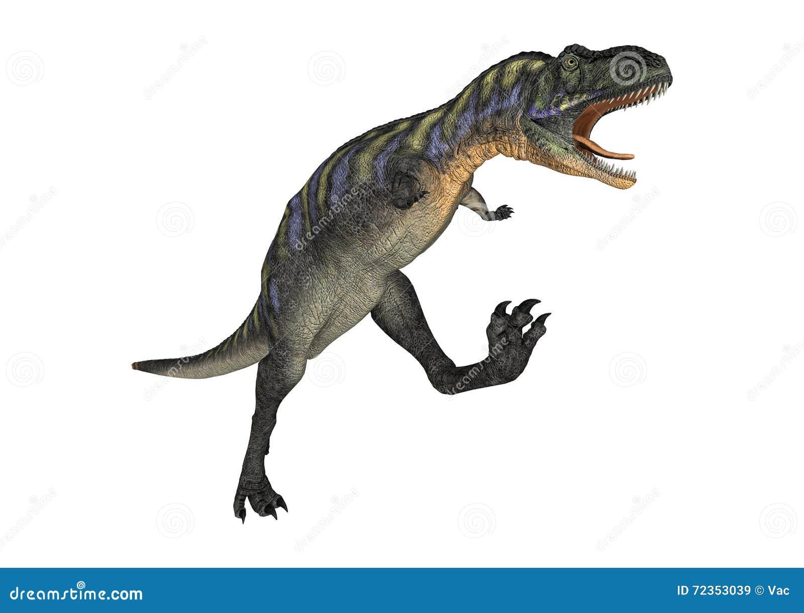 3D翻译在白色的恐龙奥卡龙