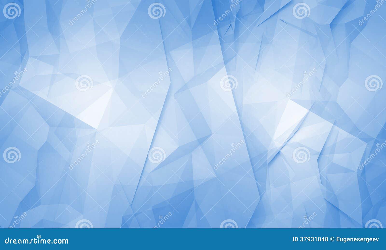 Абстрактная предпосылка сини 3d полигональная поверхностная