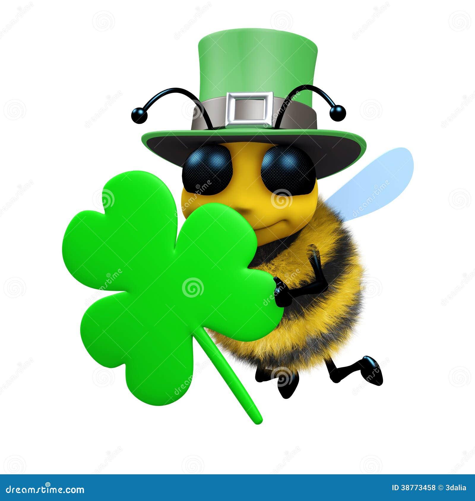 3d abeja del día del St Patricks