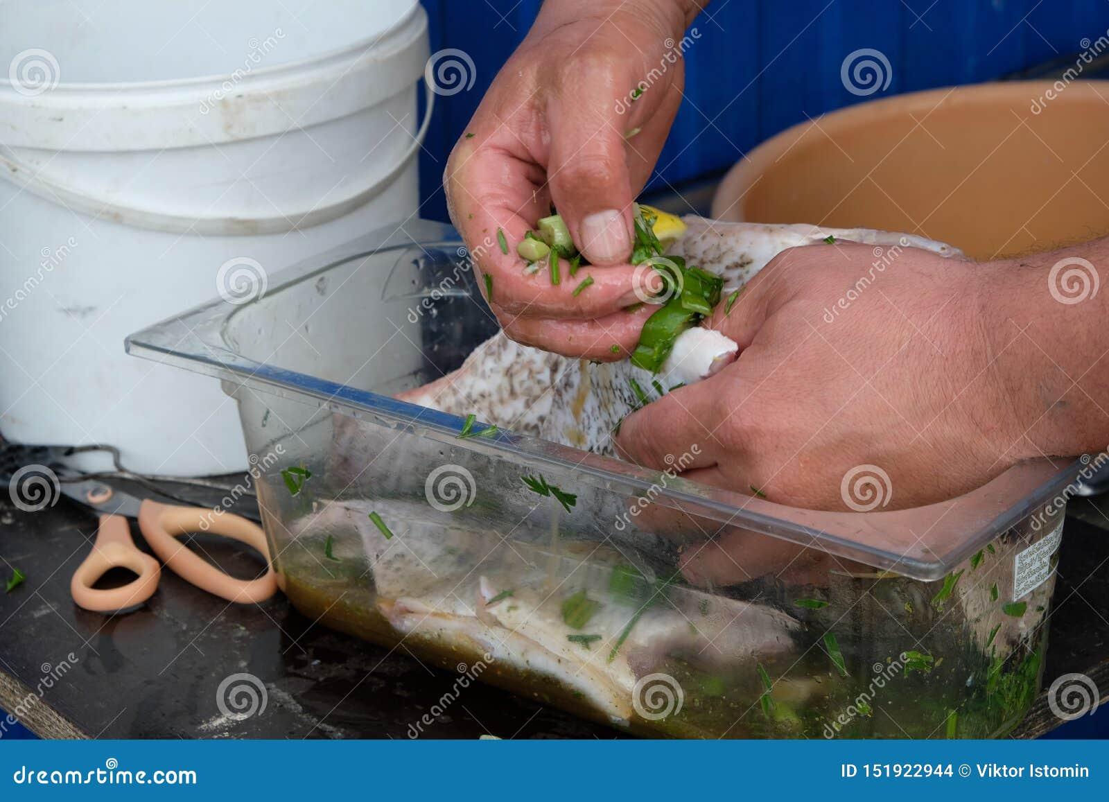 D abord les poissons devraient imbiber la marinade