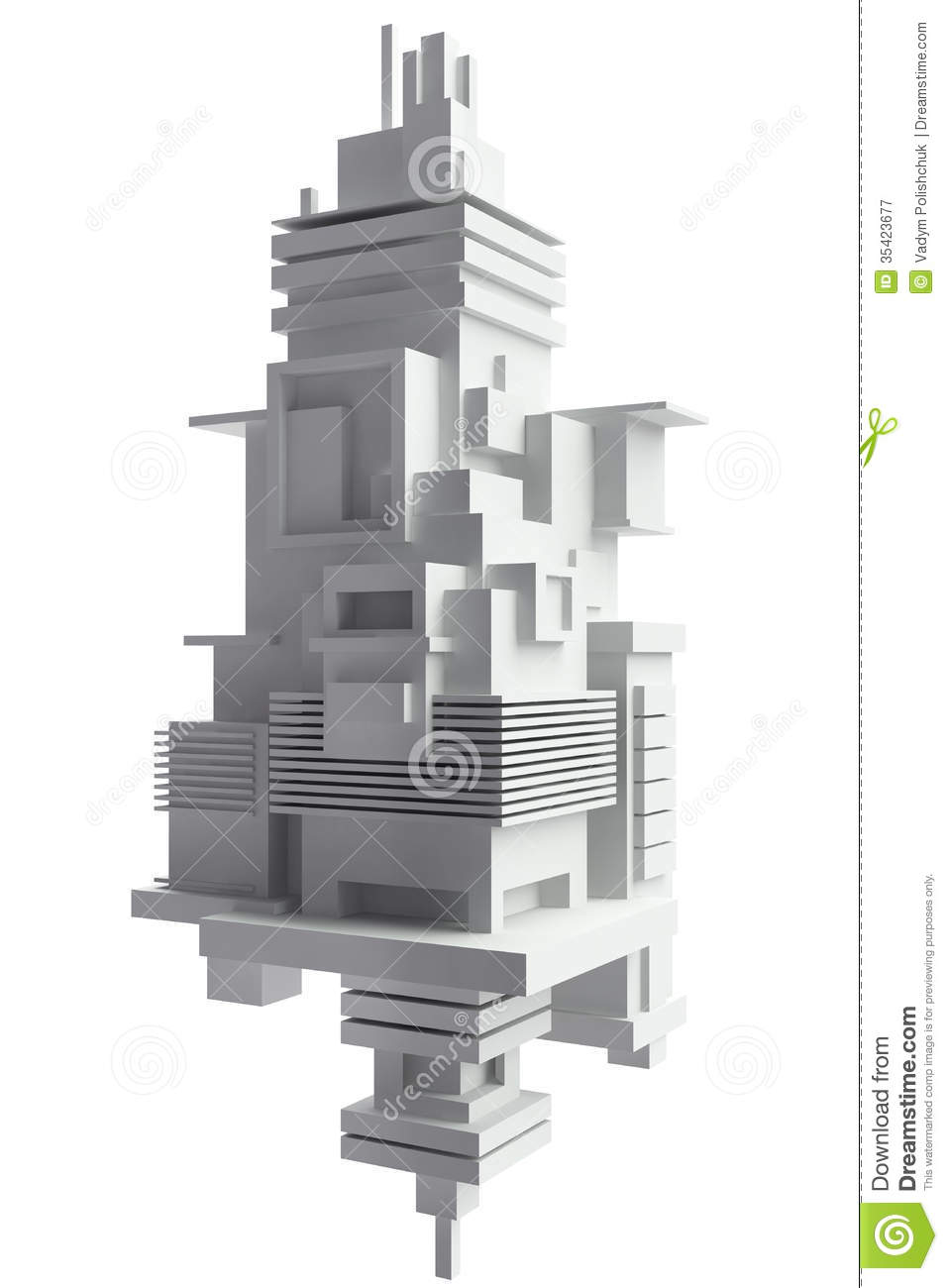 3d abstract architecture background stock illustration for Architecture simple