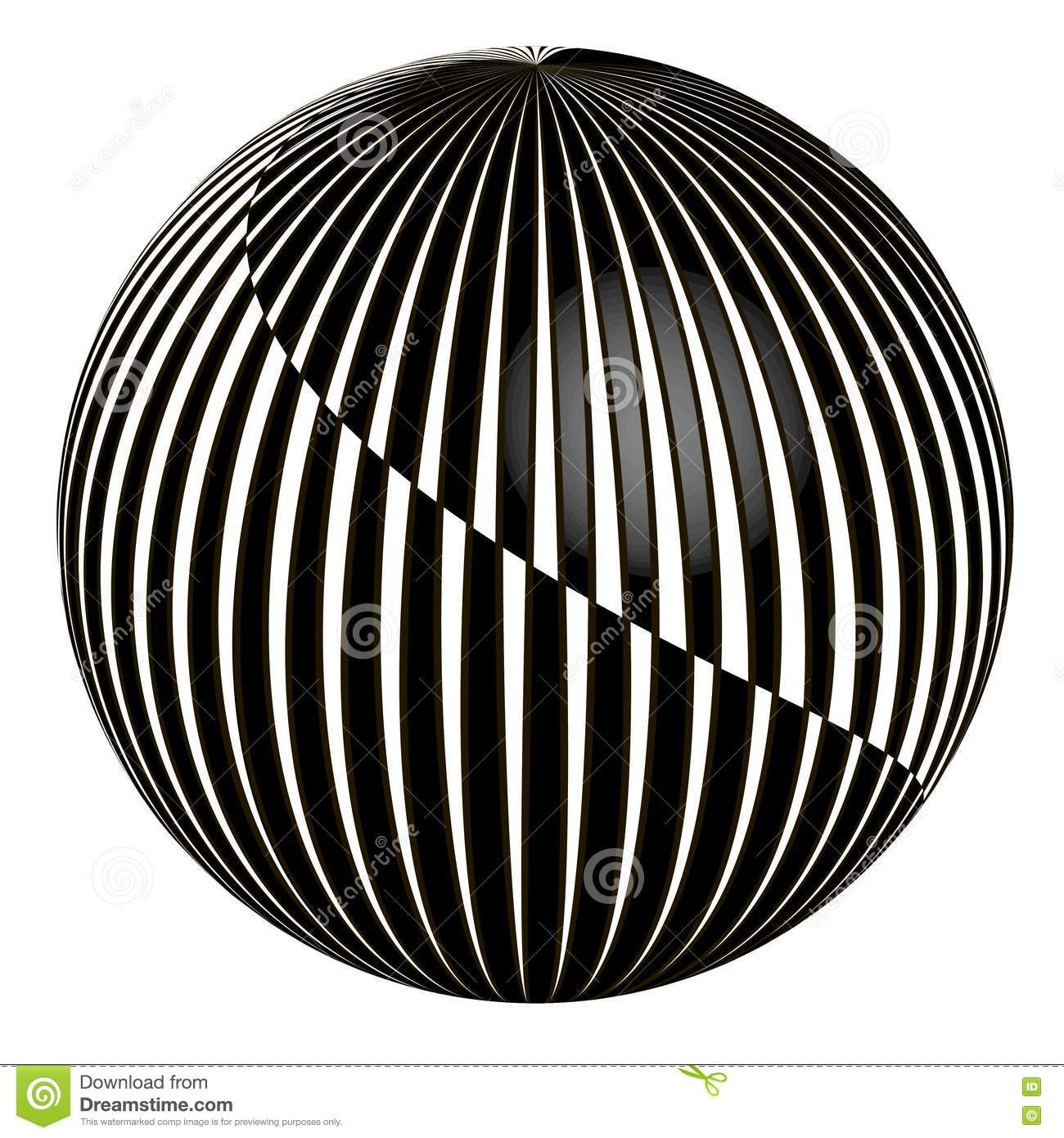 3D abstract ball