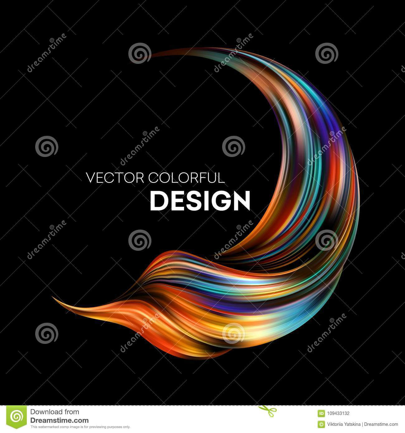 3d Abstract Colorful Fluid Design. Vector Illustration ...