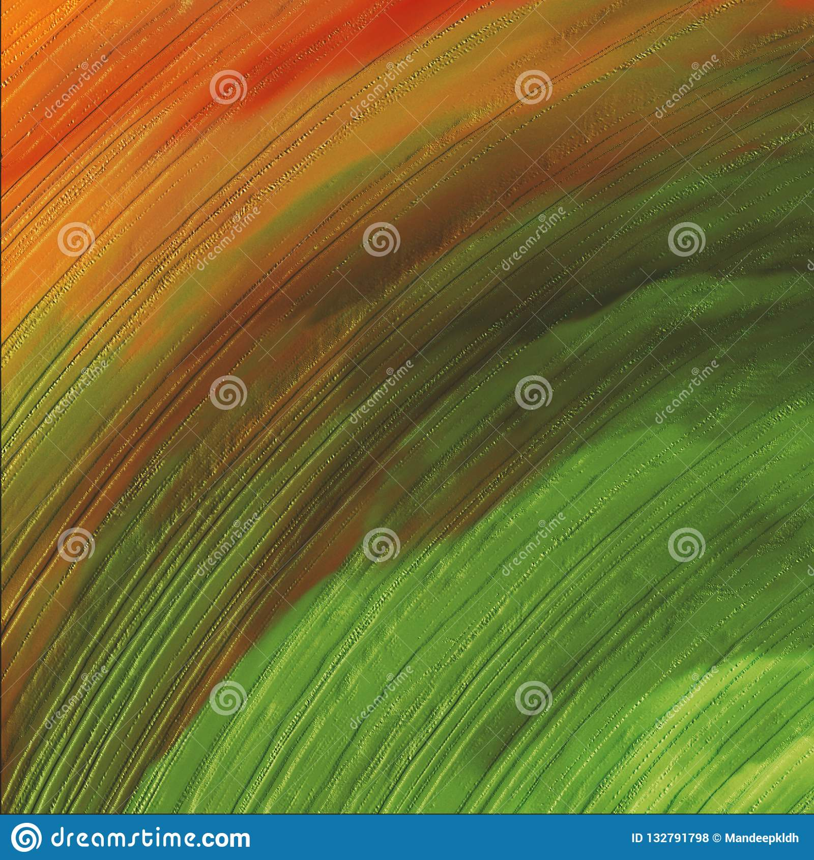 3D Abstract colorful wavy design . Bright glowing canvas paint. Brush strokes hand drawn canvas print.
