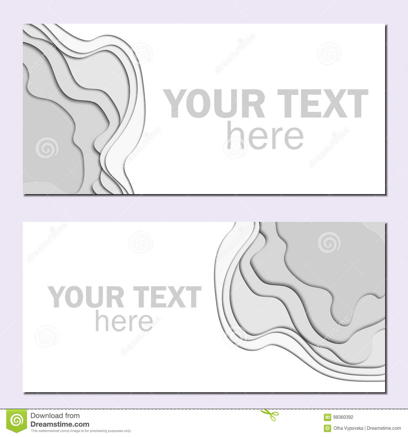 3d abstract paper cut white and gray background vector rectangle