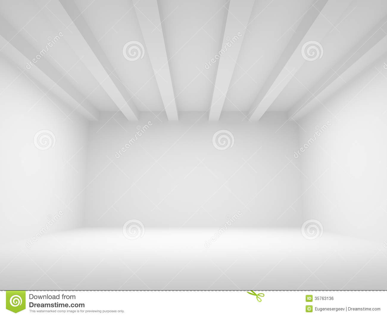 3d Abstract White Architecture Background Royalty Free